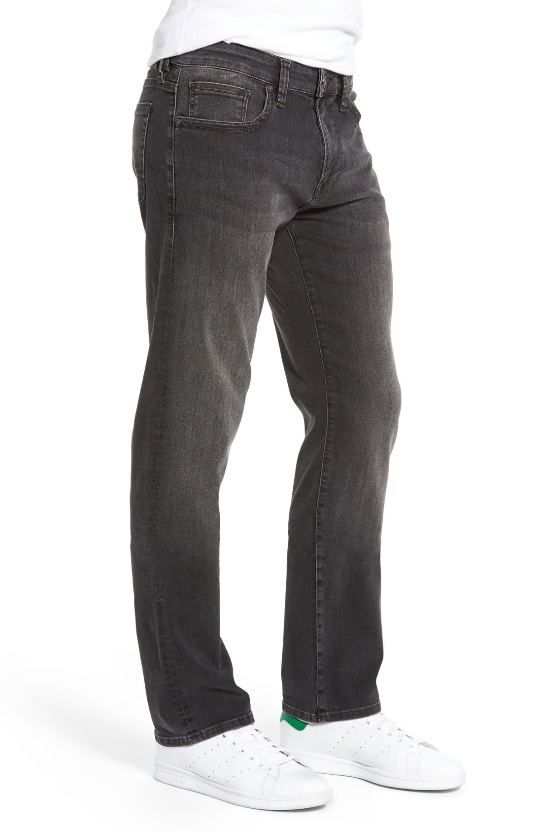 'Courage' Straight Leg Jeans,                             Alternate thumbnail 3, color,                             Courage Coal Soft