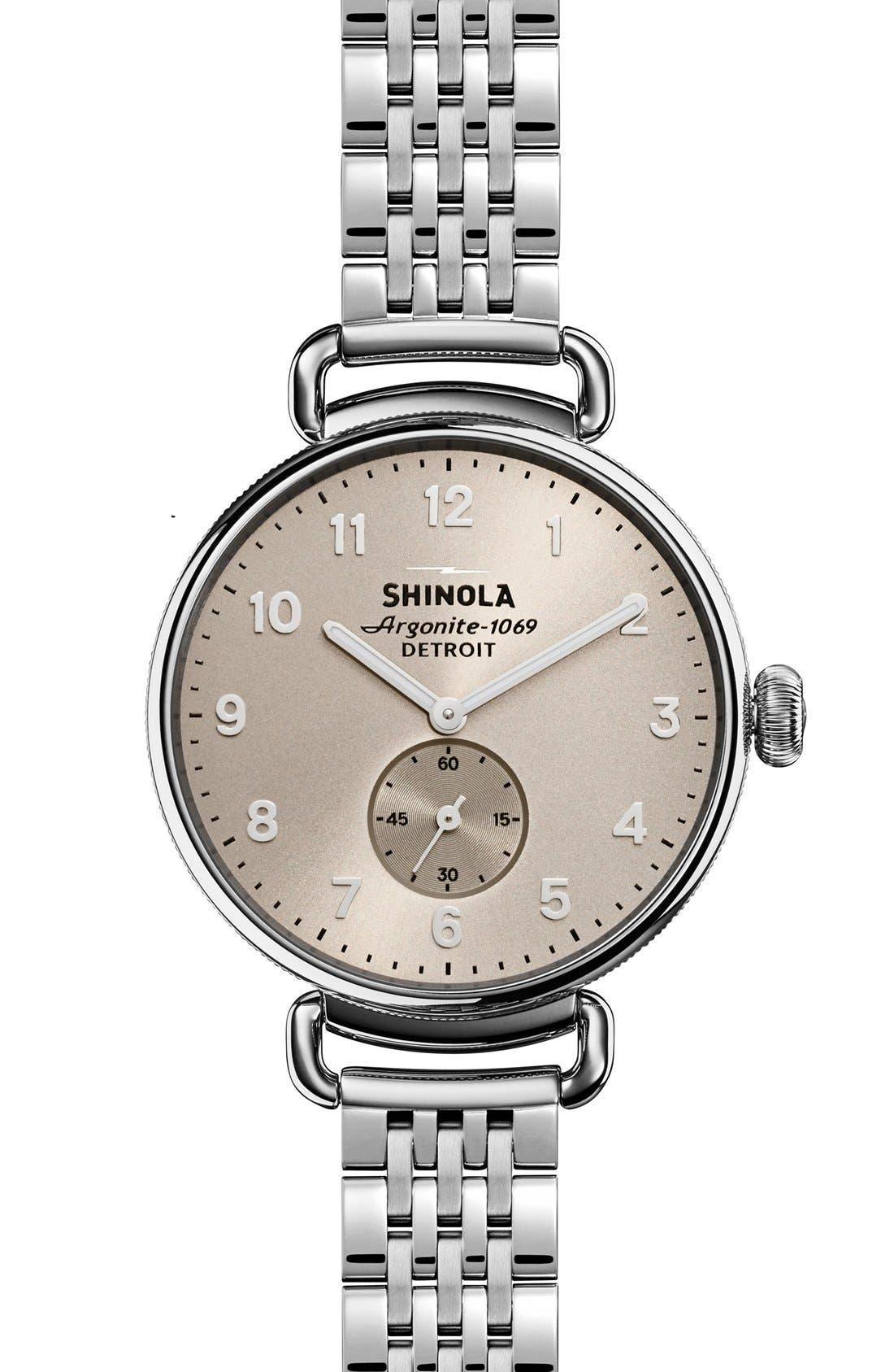 SHINOLA The Canfield Bracelet Watch, 38mm