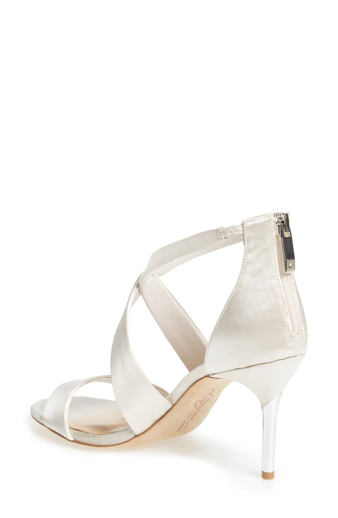 'Pascal' Sandal,                             Alternate thumbnail 2, color,                             Ivory Satin