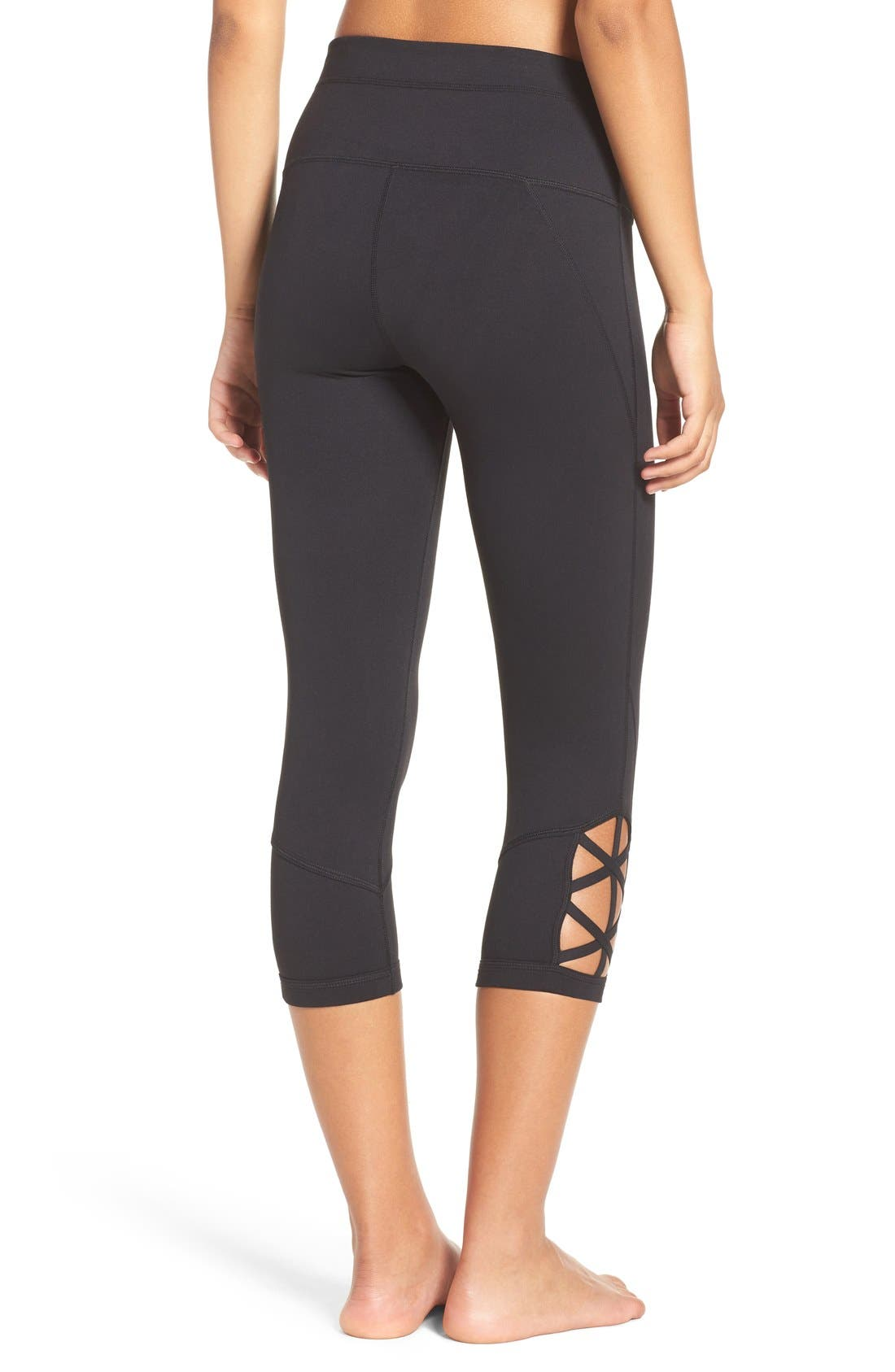 Alternate Image 2  - Zella 'Midnight' High Waist Crop Leggings