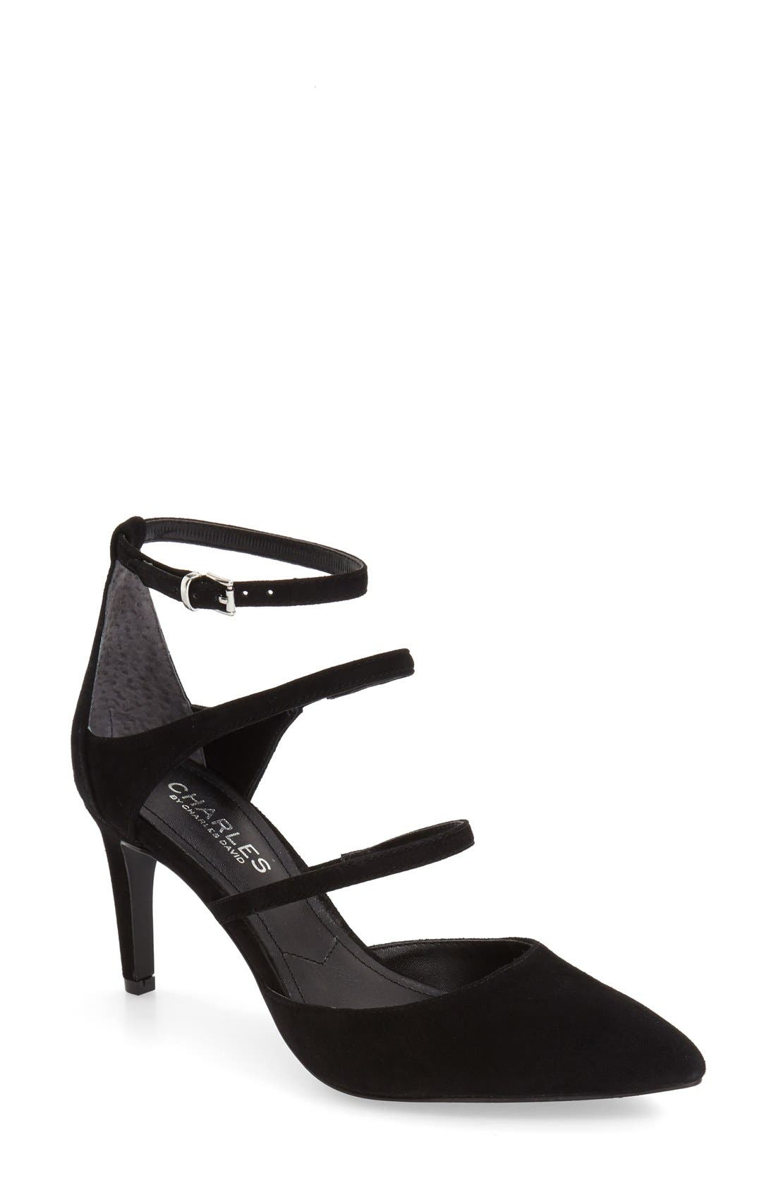 Alternate Image 1 Selected - Charles by Charles David 'Lena' Pointy Toe Strappy Pump (Women)