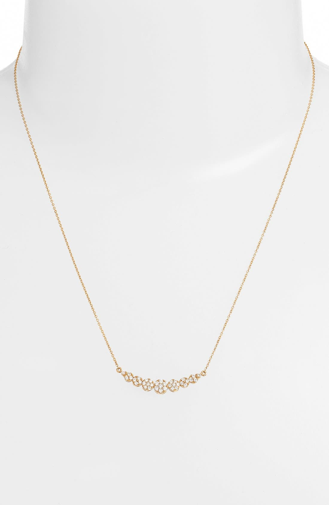 'Liora' Diamond Pendant Necklace,                             Alternate thumbnail 2, color,                             Yellow Gold