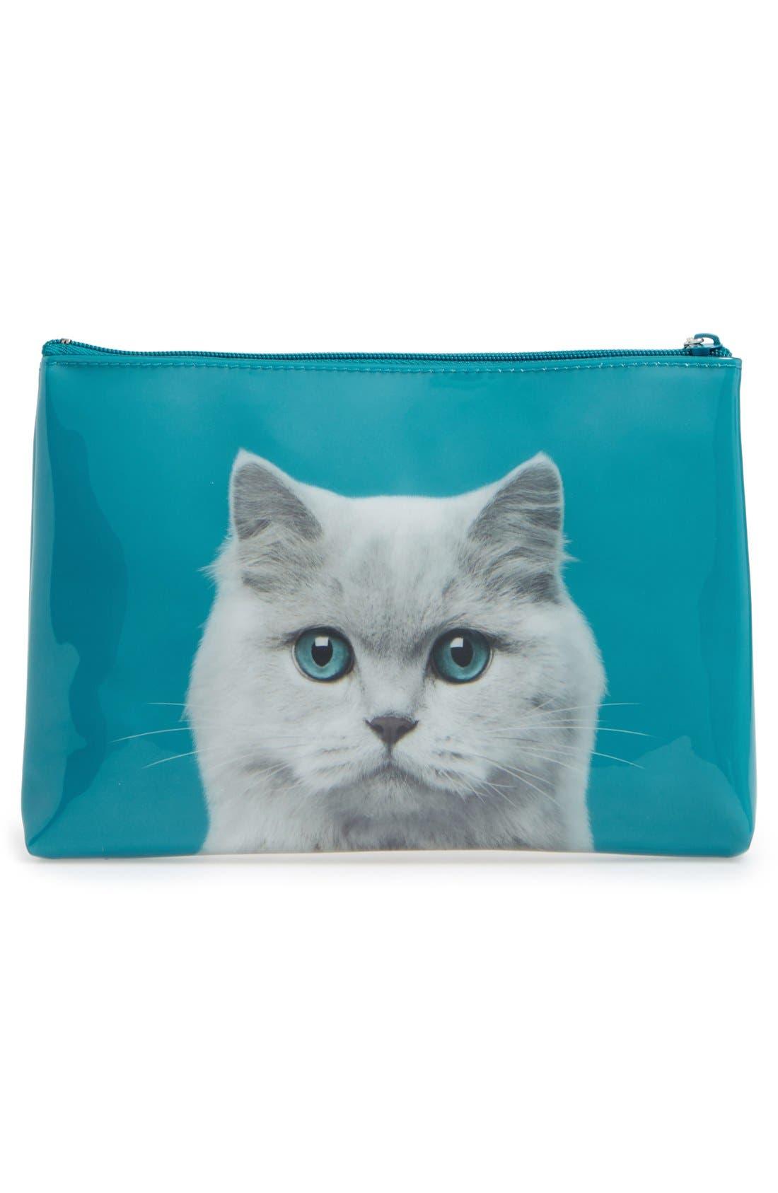 Alternate Image 2  - Catseye London Large Cat Zip Pouch