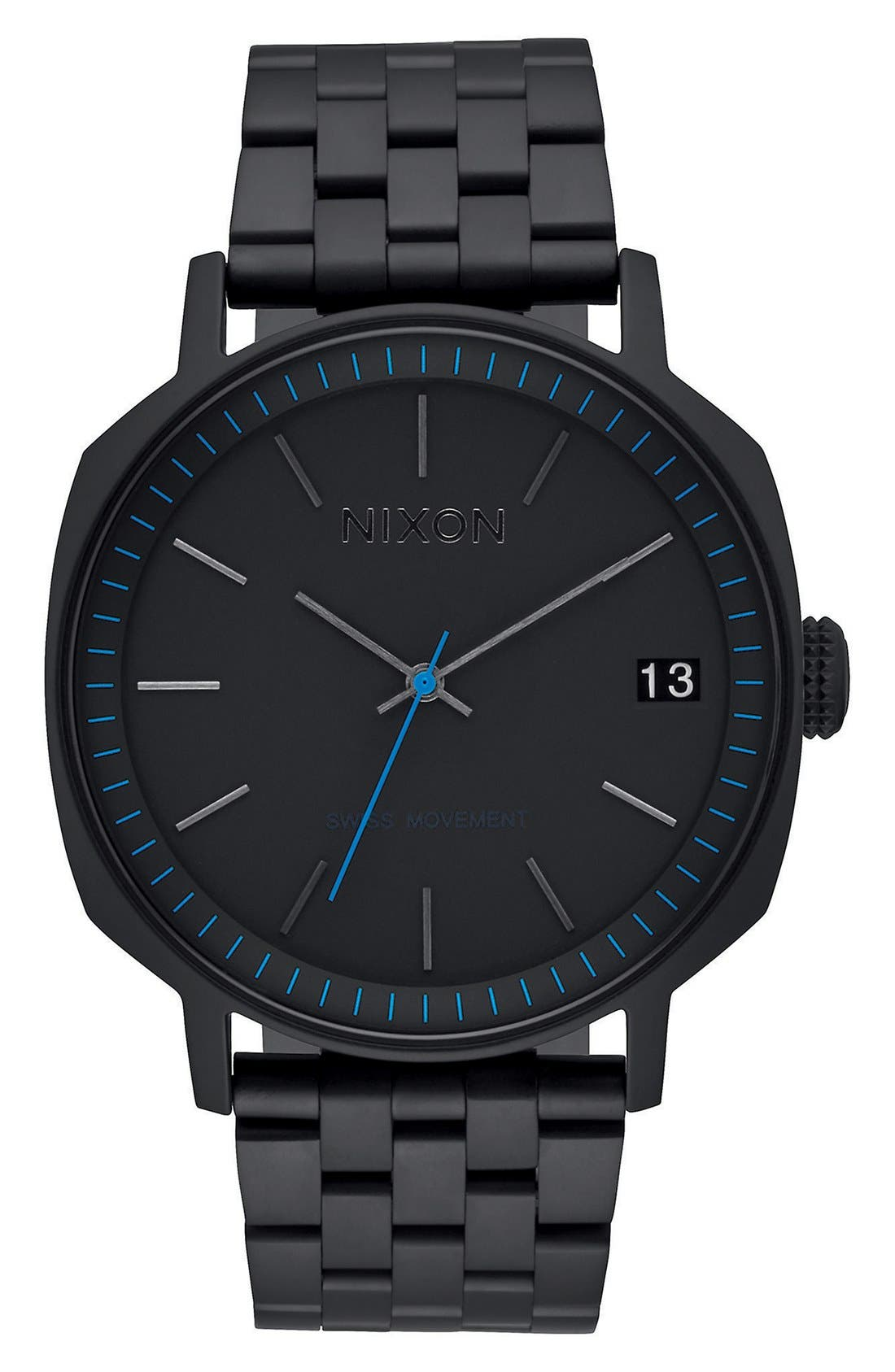 'The Regent II' Bracelet Watch, 42mm,                             Main thumbnail 1, color,                             Black/ Blue