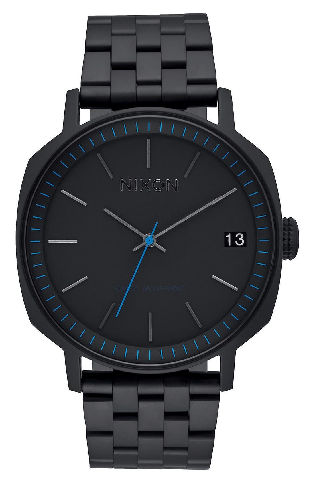 'The Regent II' Bracelet Watch, 42mm,                         Main,                         color, Black/ Blue