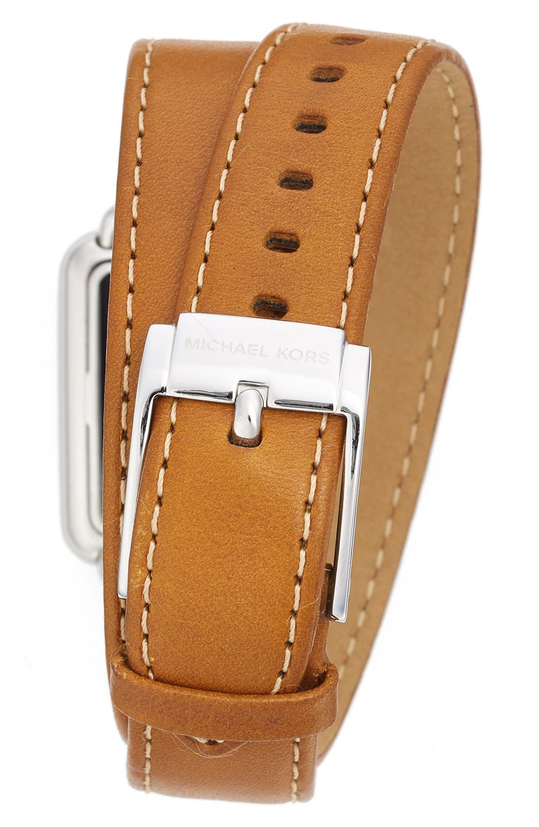 Alternate Image 2  - MICHAEL Michael Kors 'Brenner' Square Leather Strap Watch, 31mm