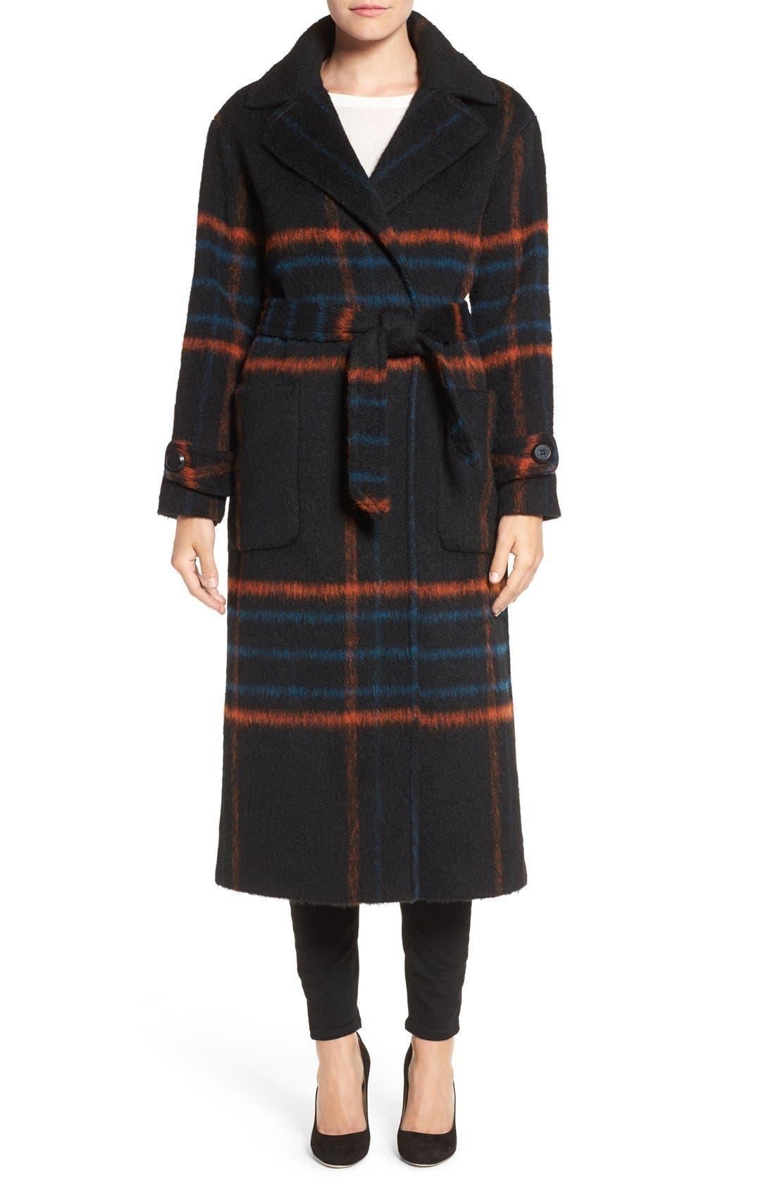 Main Image - Trina Turk 'Margaret' Check Wrap Coat