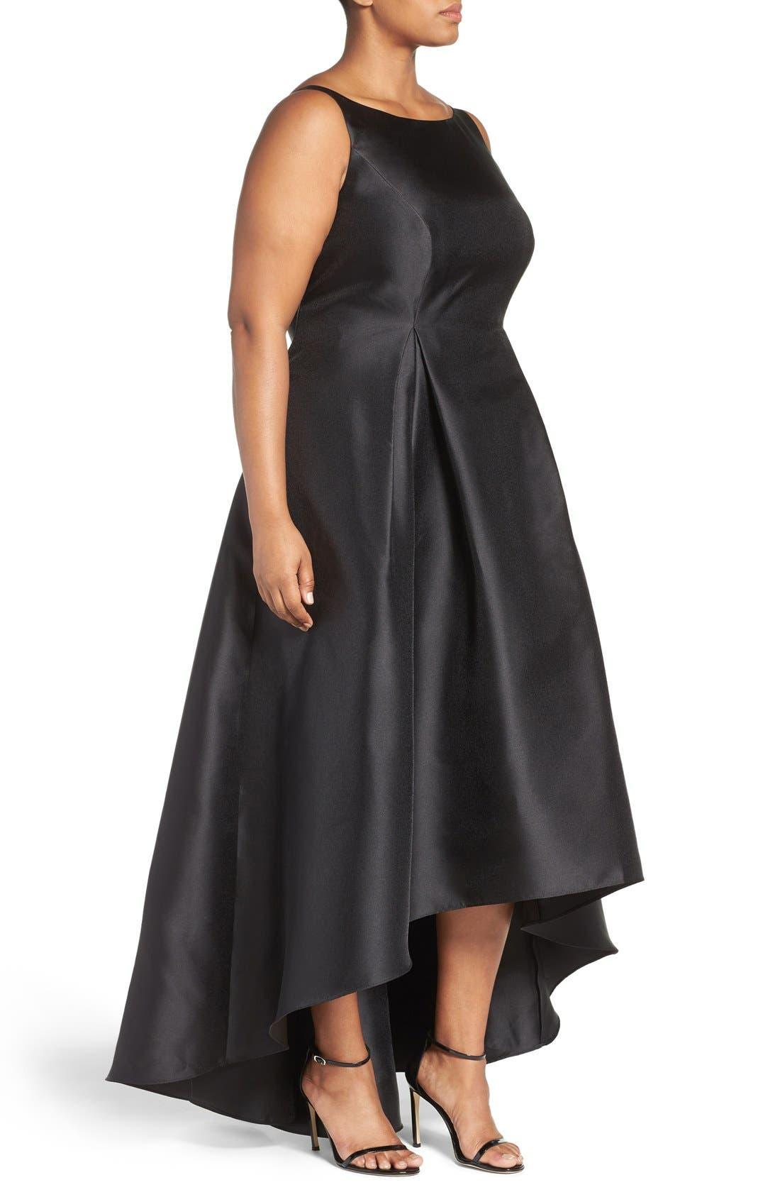 Alternate Image 3  - Adrianna Papell Arcadia Sleeveless High/Low Mikado Ballgown (Plus Size)