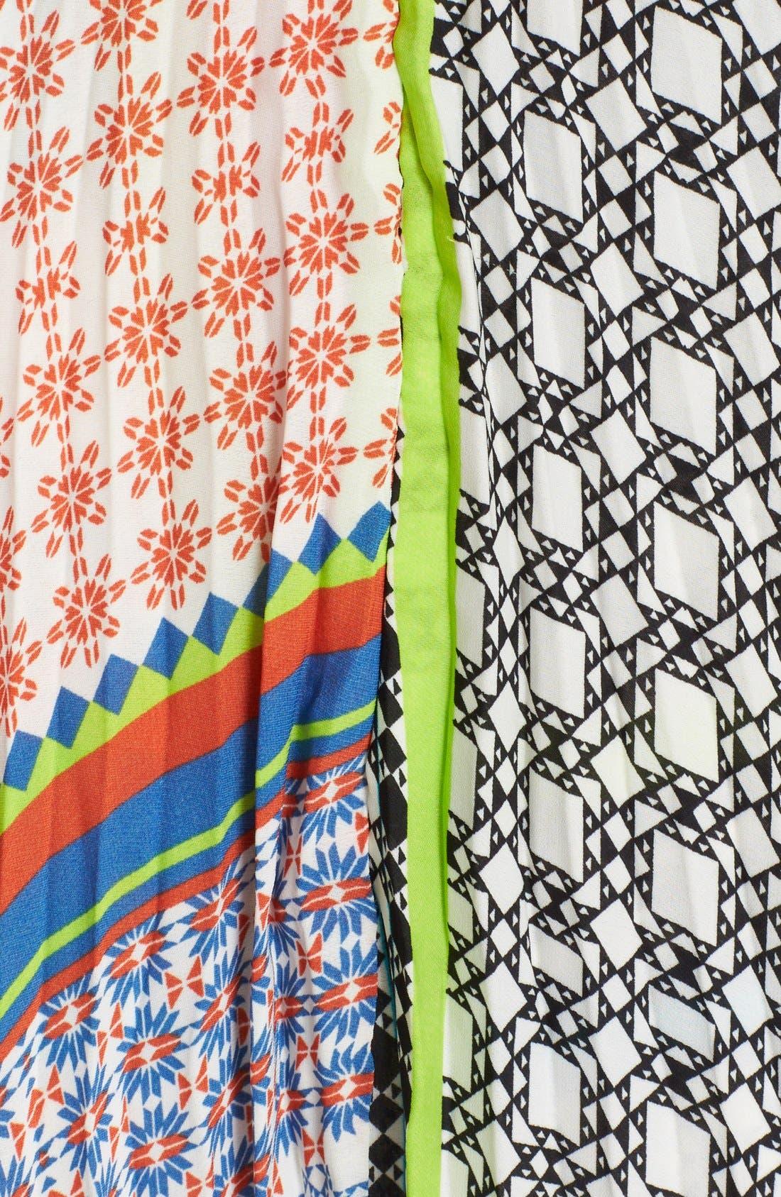 Alternate Image 5  - Parker 'Skye' Mixed Print Silk Maxi Dress