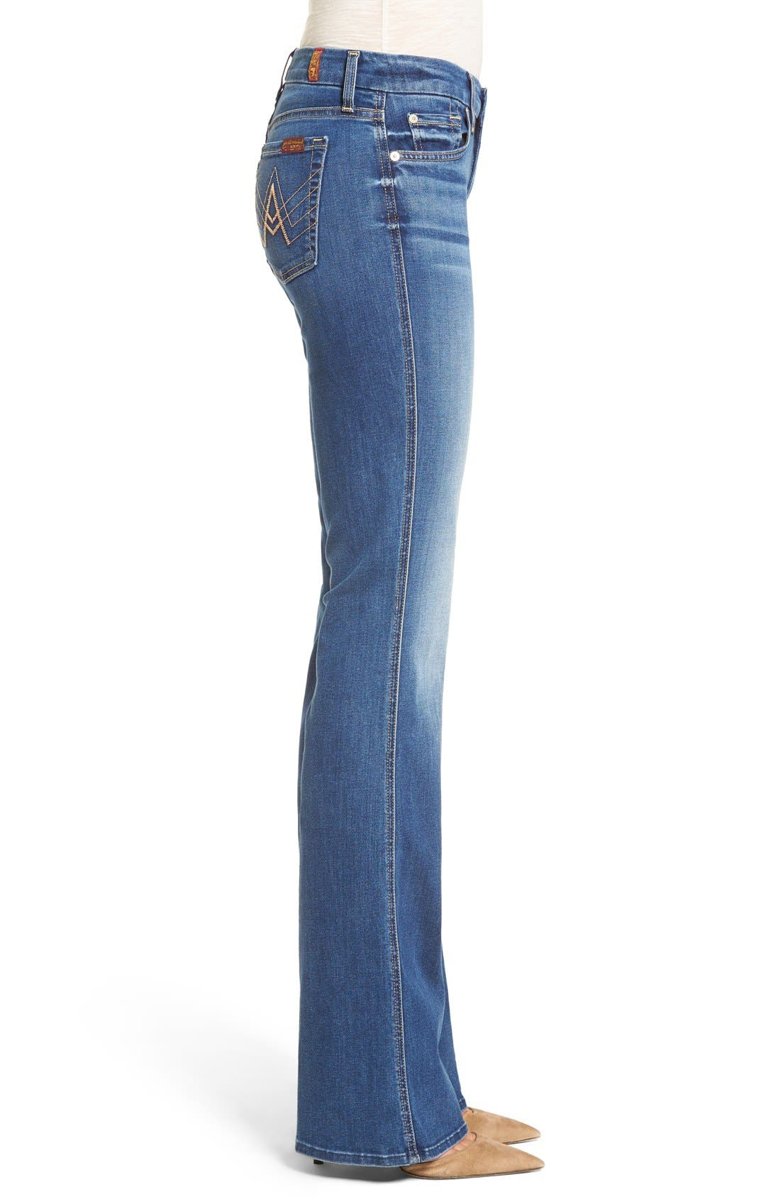 'b(air) - A Pocket' Flare Jeans,                             Alternate thumbnail 3, color,                             Reign