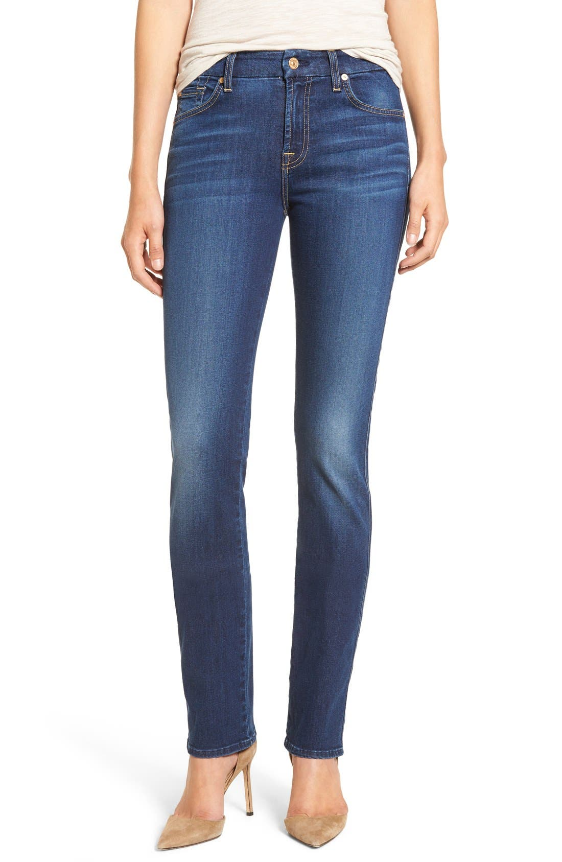 Alternate Image 1 Selected - 7 For All Mankind® 'b(air) - Kimmie' Straight Leg Jeans (Duchess)