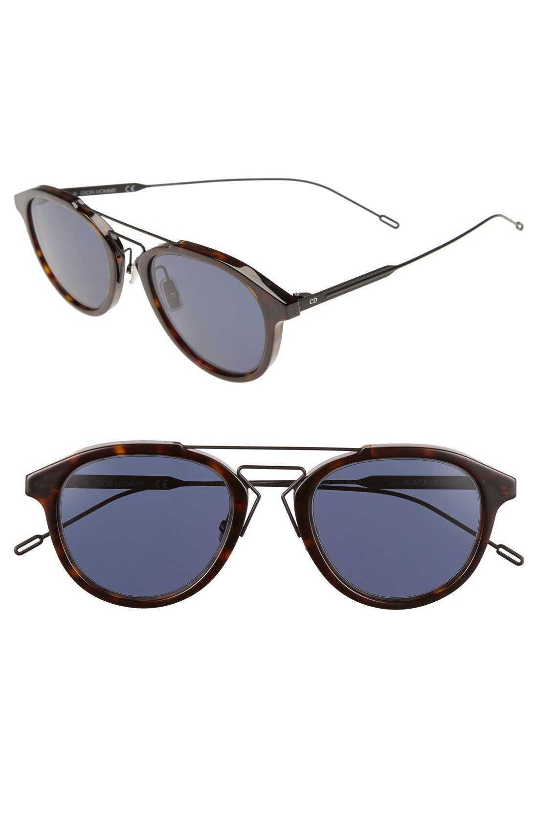52mm 'Black Tie' Sunglasses,                         Main,                         color, Havana
