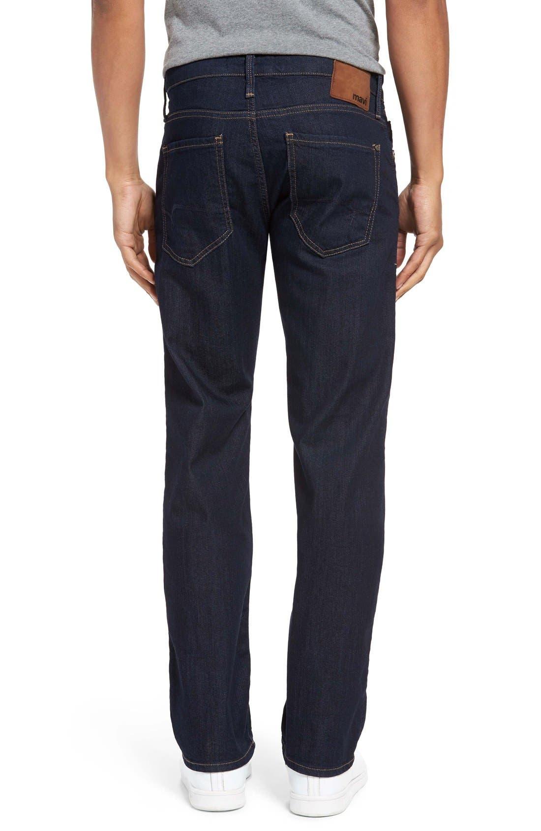 Alternate Image 2  - Mavi Jeans 'Zach' Straight Leg Jeans (Dark Blue)