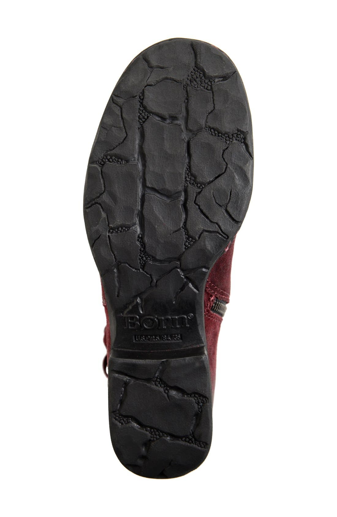 'Cross' Bootie,                             Alternate thumbnail 4, color,                             Amarena Distressed Leather