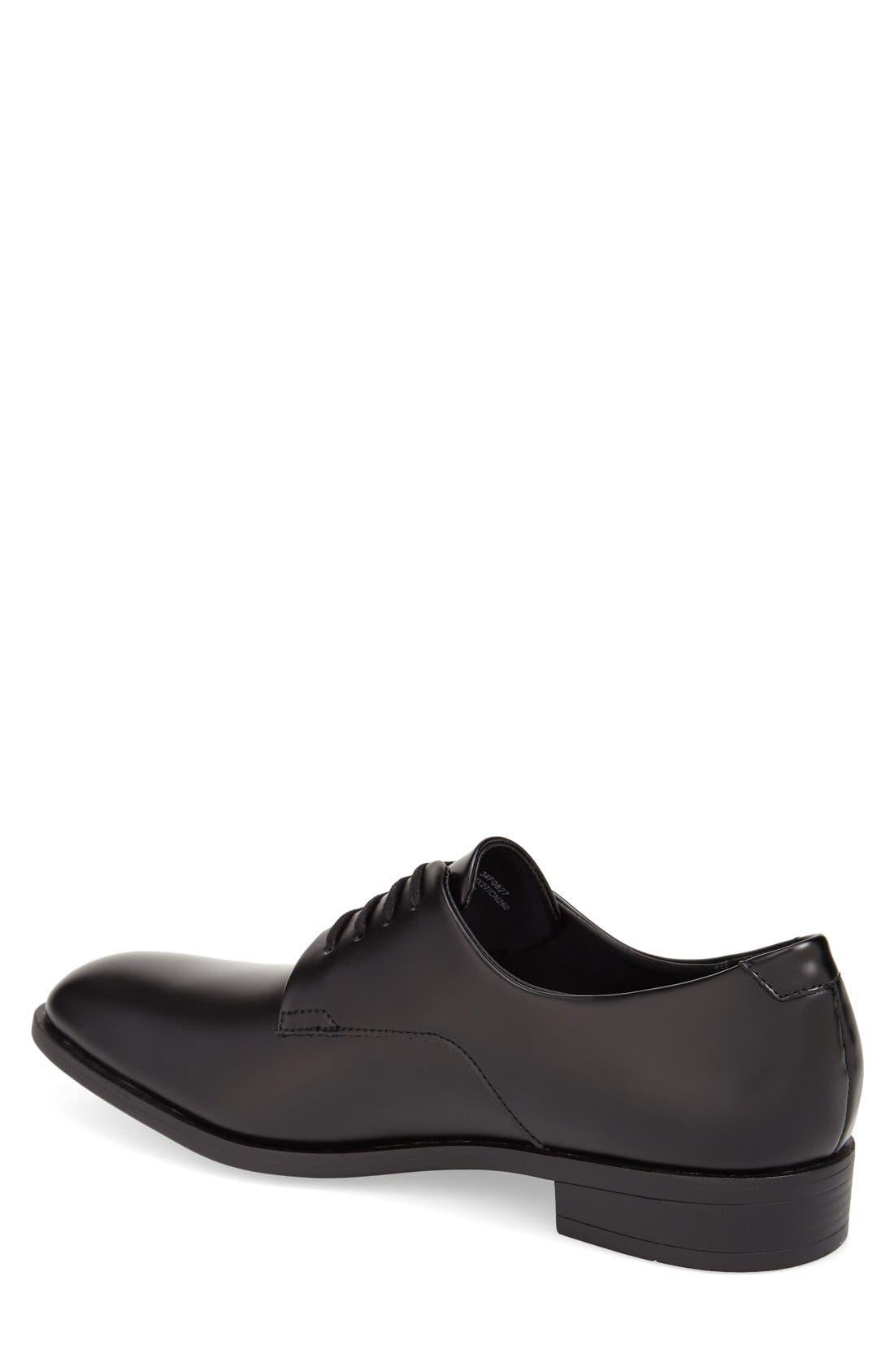 'Dorrel' Plain Toe Derby,                             Alternate thumbnail 2, color,                             Black