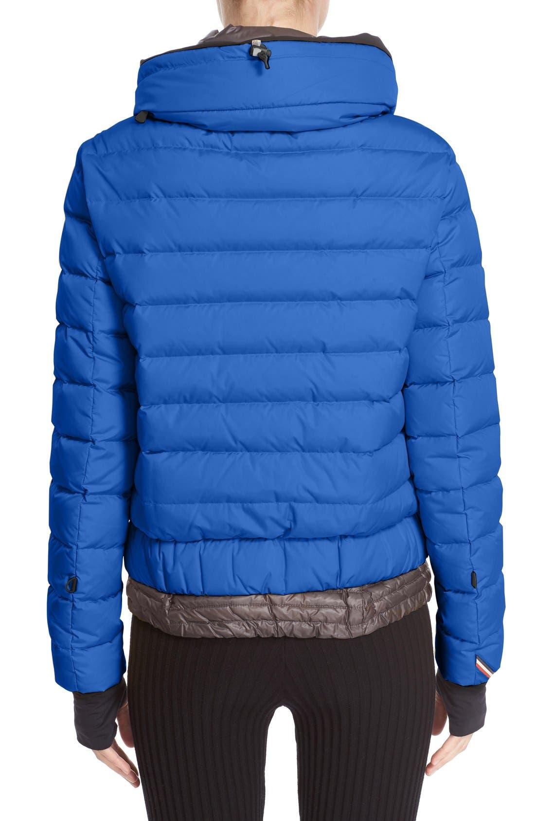 'Vonne' Nylon Down Puffer Jacket,                             Alternate thumbnail 2, color,                             Blue