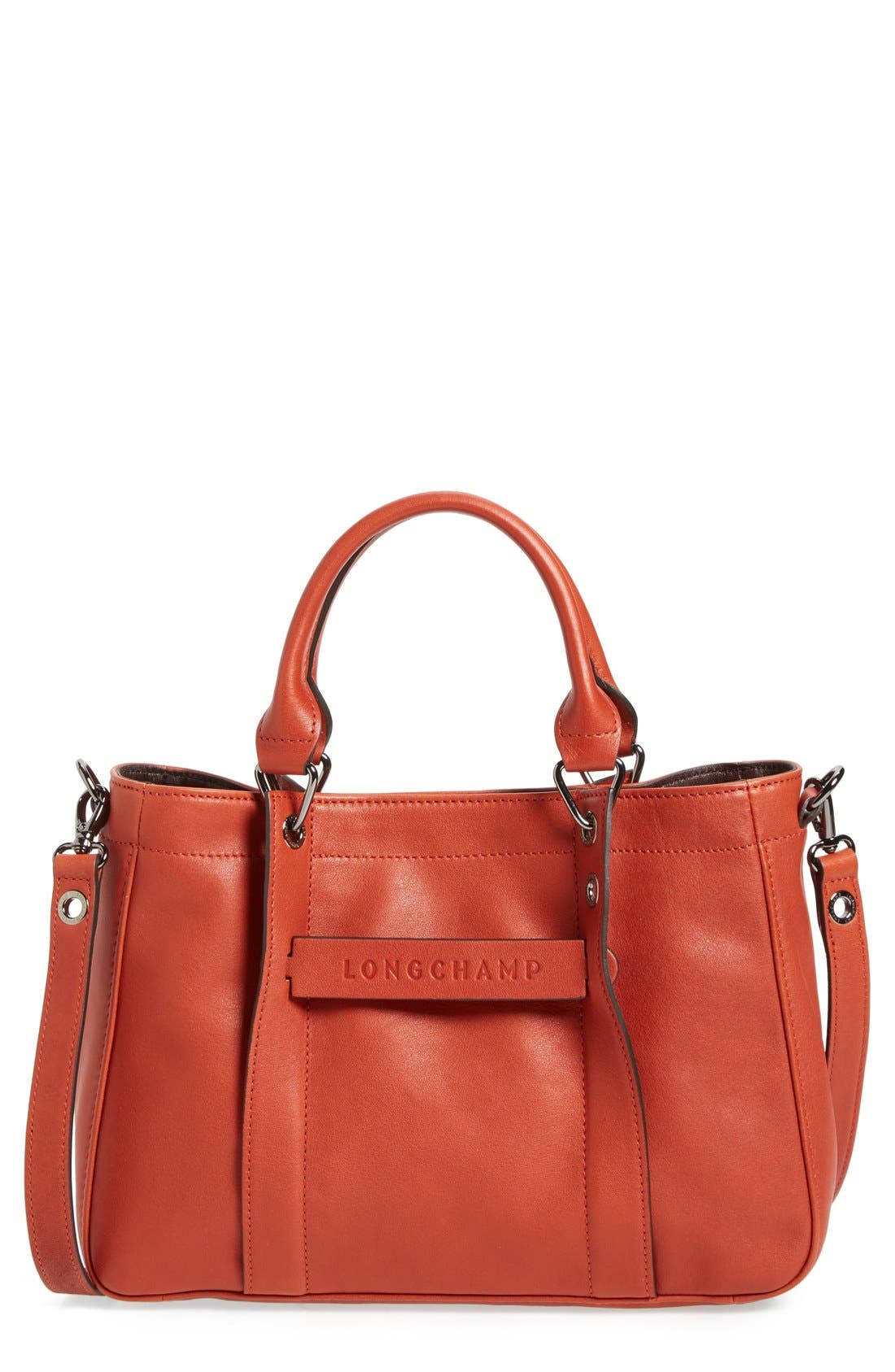 Longchamp 'Small 3D' Leather Tote