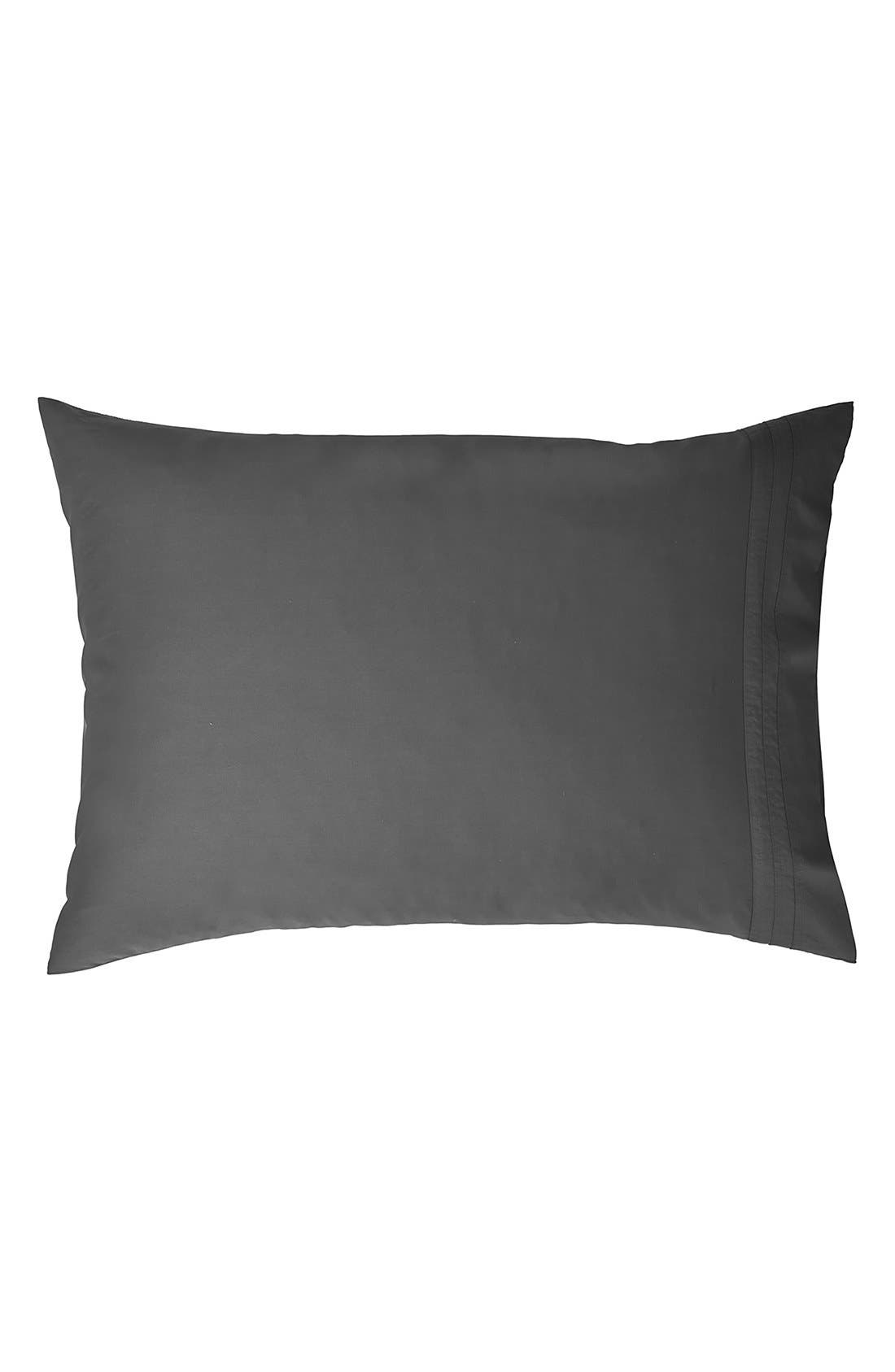 Donna Karan Collection 510 Thread Count Pillowcases,                         Main,                         color, Charcoal Grey