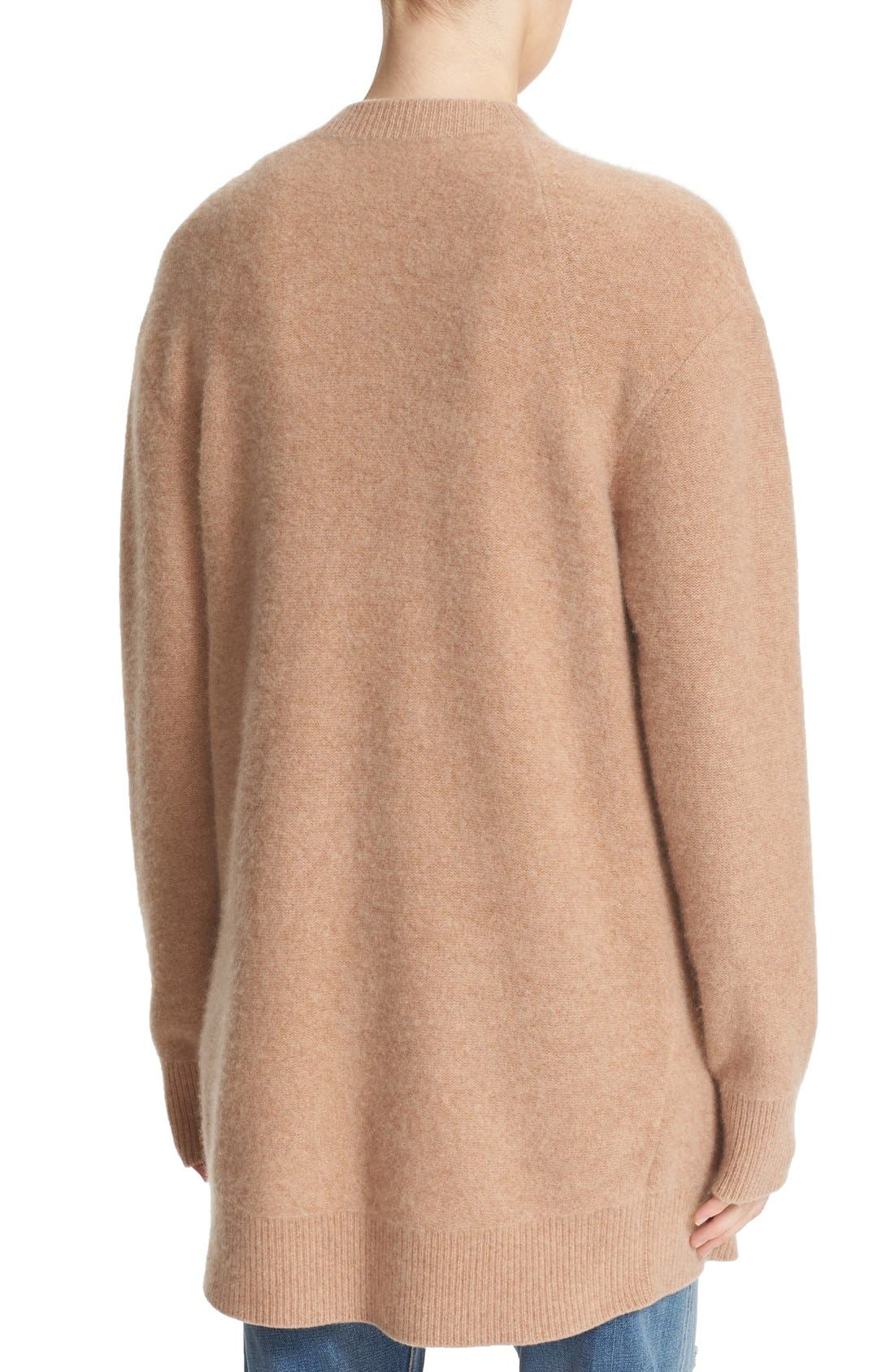 Alternate Image 2  - Vince Open Front Cashmere Cardigan