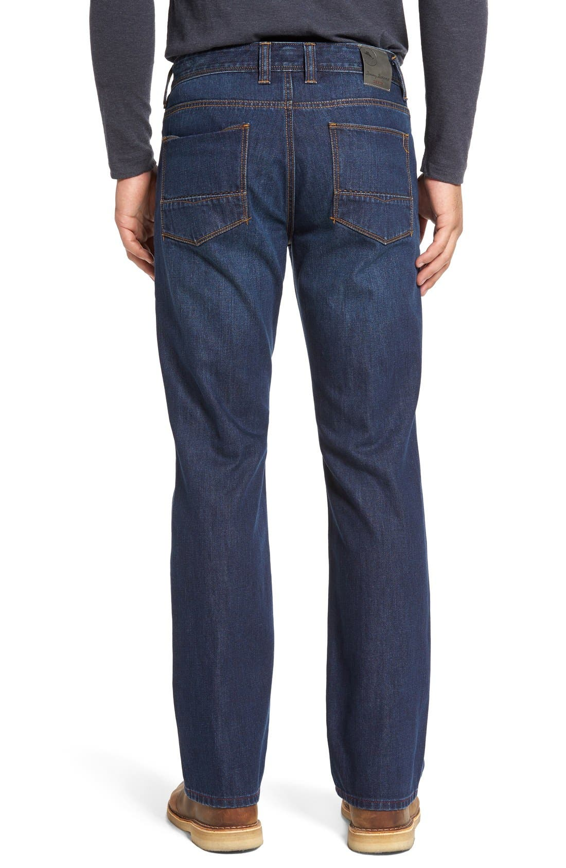 'Santorini' Relaxed Fit Jeans,                             Alternate thumbnail 2, color,                             Dark Indigo Wash