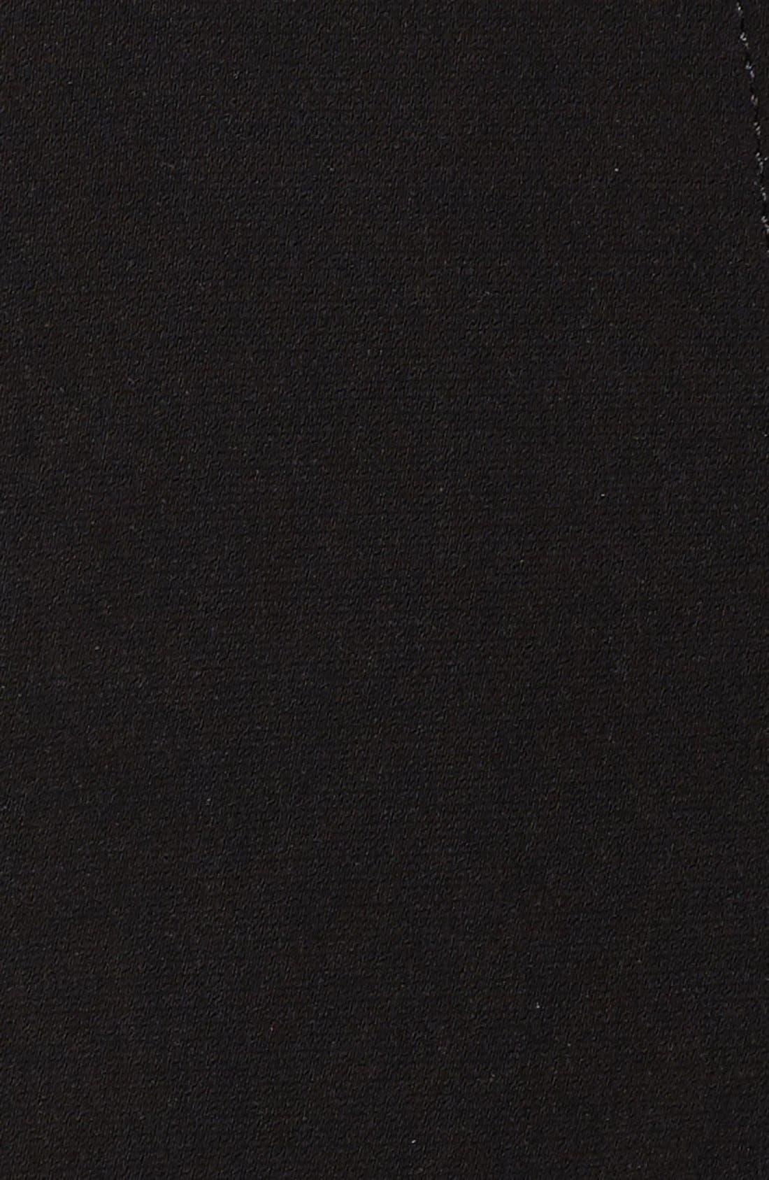 Long Nepage Raincoat with Detachable Hood & Liner,                             Alternate thumbnail 5, color,                             Black