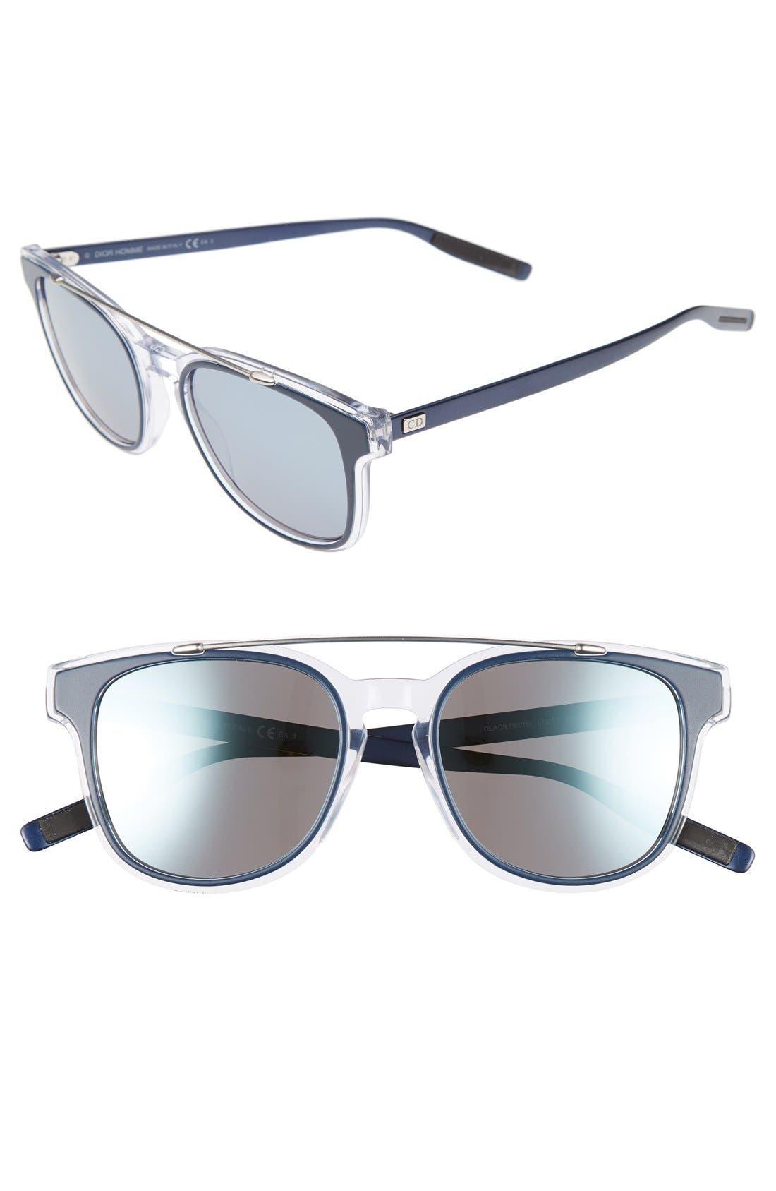 DIOR HOMME 'Black Tie' 52Mm Sunglasses - Blue Crystal Palladium