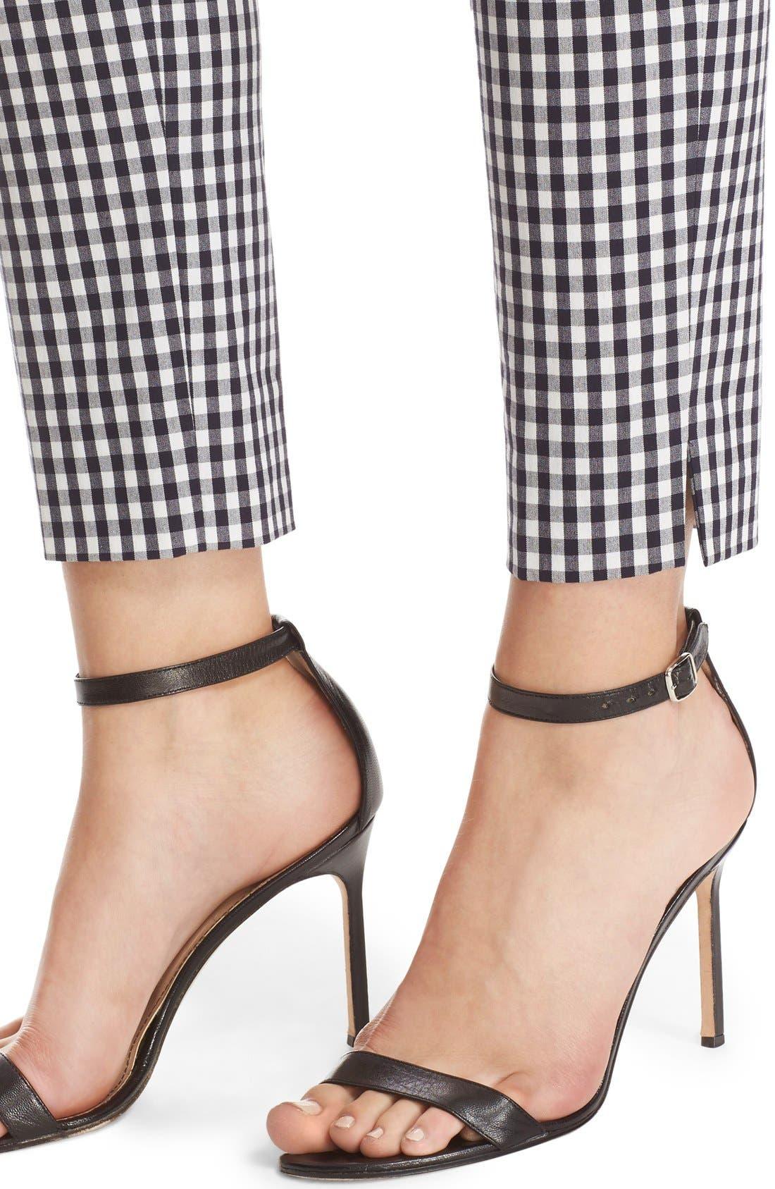 Alternate Image 6  - St. John Collection 'Emma' Stretch Gingham Slim Leg Pants