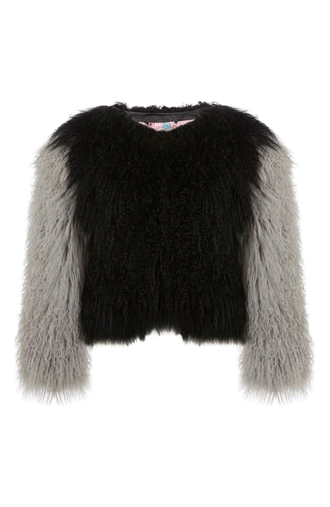 Main Image - Charlotte Simone 'Classic Fuzz' Genuine Mongolian Lamb Fur Bolero