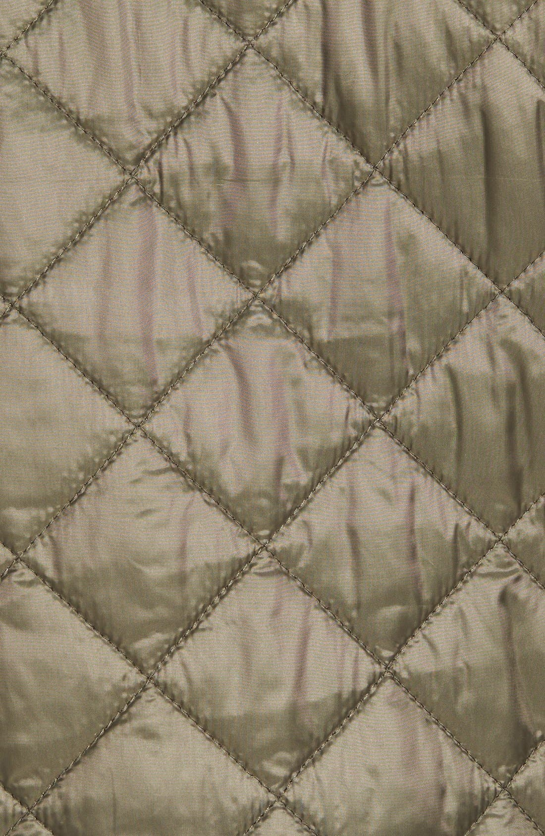 Diamond Quilted Jacket,                             Alternate thumbnail 11, color,                             Olive