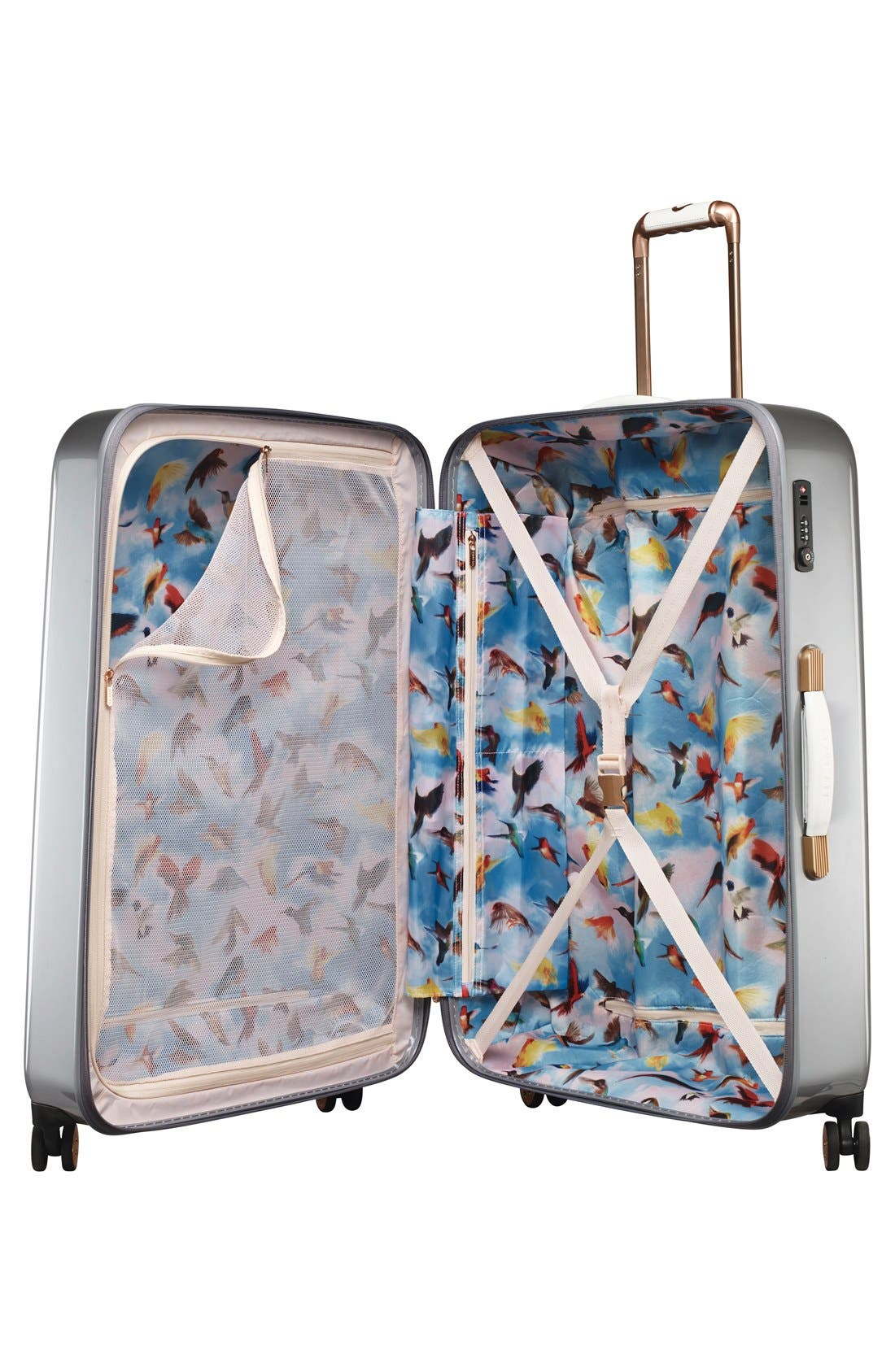 Alternate Image 3  - Ted Baker London 'Large Porcelain Rose' Four Wheel Suitcase (31 Inch)