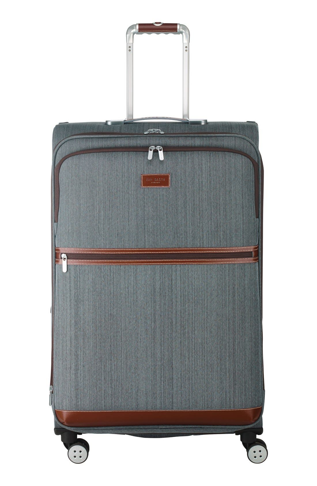 TED BAKER LONDON Large Falconwood Grey Four Wheel Suitcase