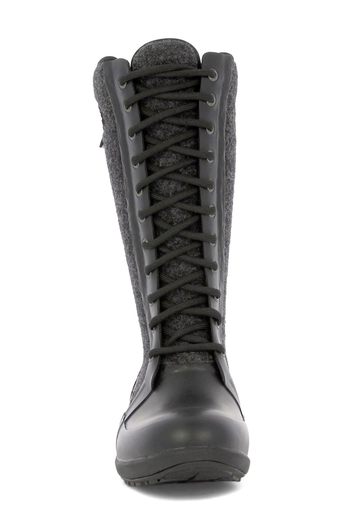 'Cami' Knee High Waterproof Boot,                             Alternate thumbnail 3, color,                             Black Multi Wool