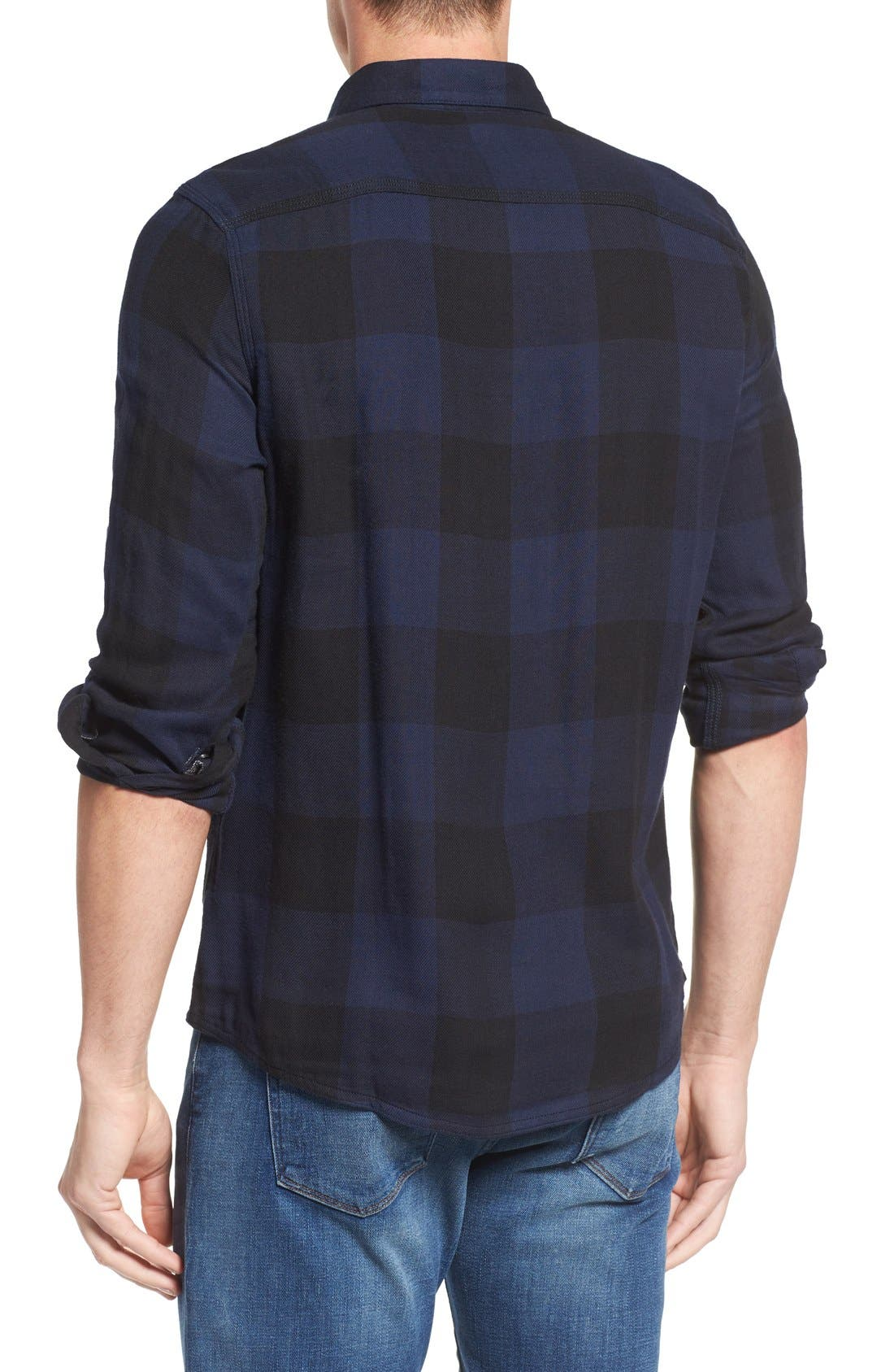 Alternate Image 2  - Nordstrom Men's Shop Trim Fit Buffalo Plaid Flannel Shirt Jacket