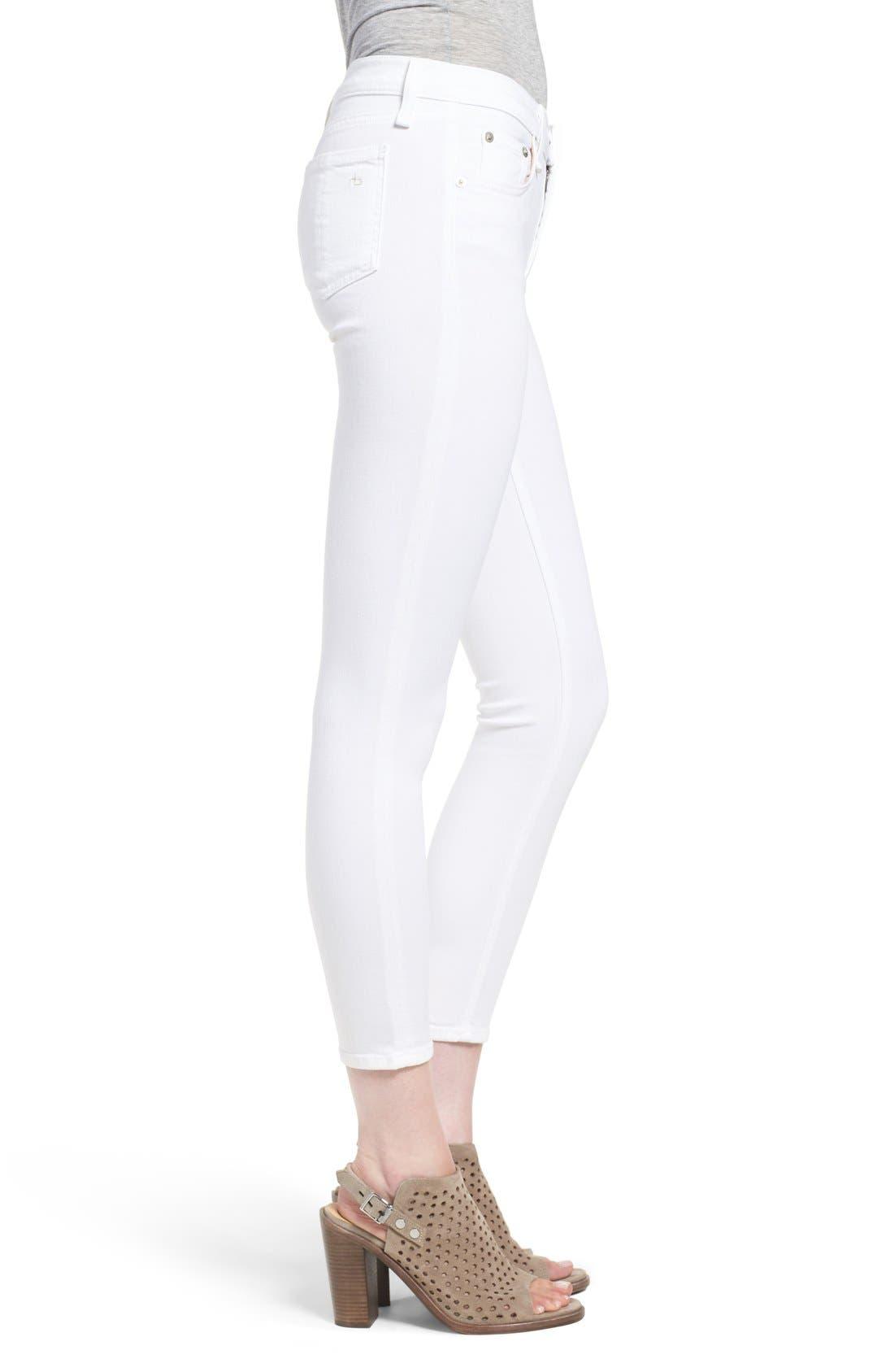 Alternate Image 3  - rag & bone/JEAN 'Capri' Skinny Crop Jeans (Bright White)