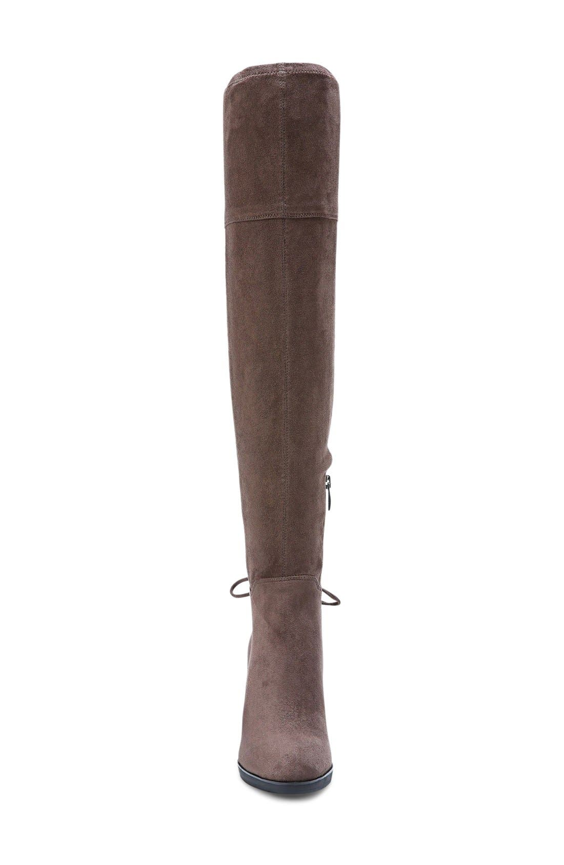 Ivanea Over the Knee Boot,                             Alternate thumbnail 3, color,                             Taupe Suede