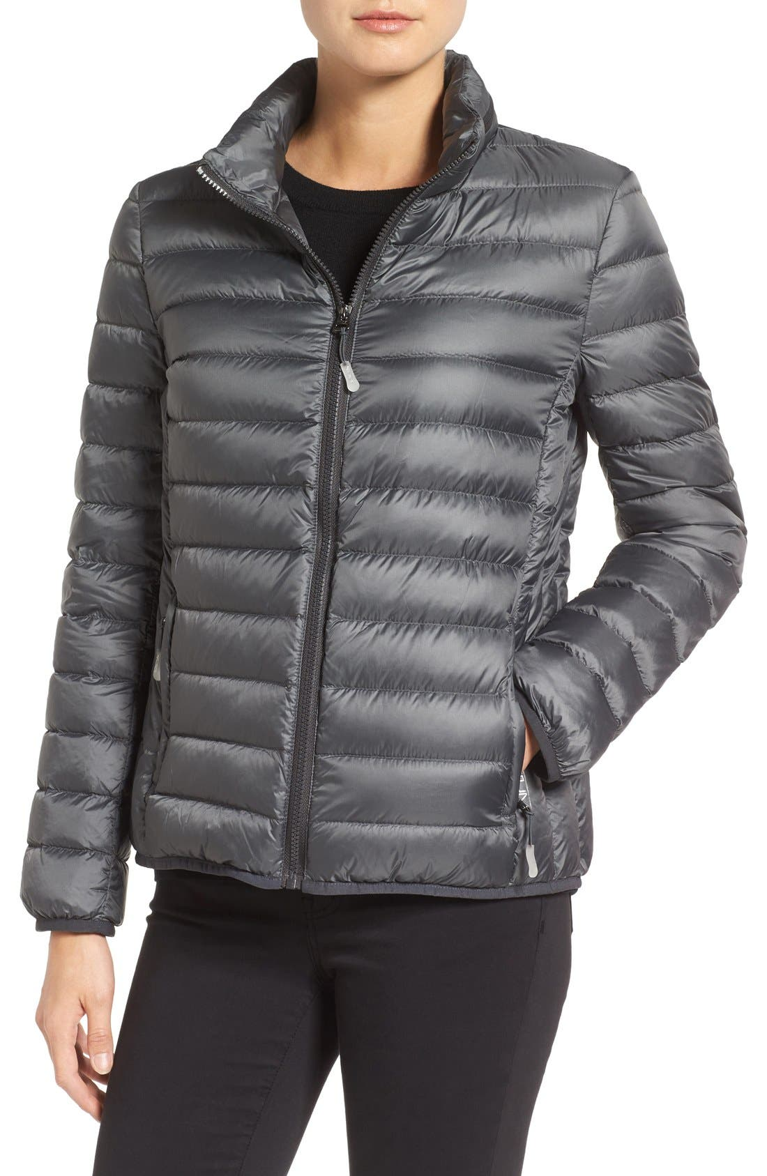 Pax on the Go Packable Quilted Jacket,                             Alternate thumbnail 4, color,                             Slate Grey