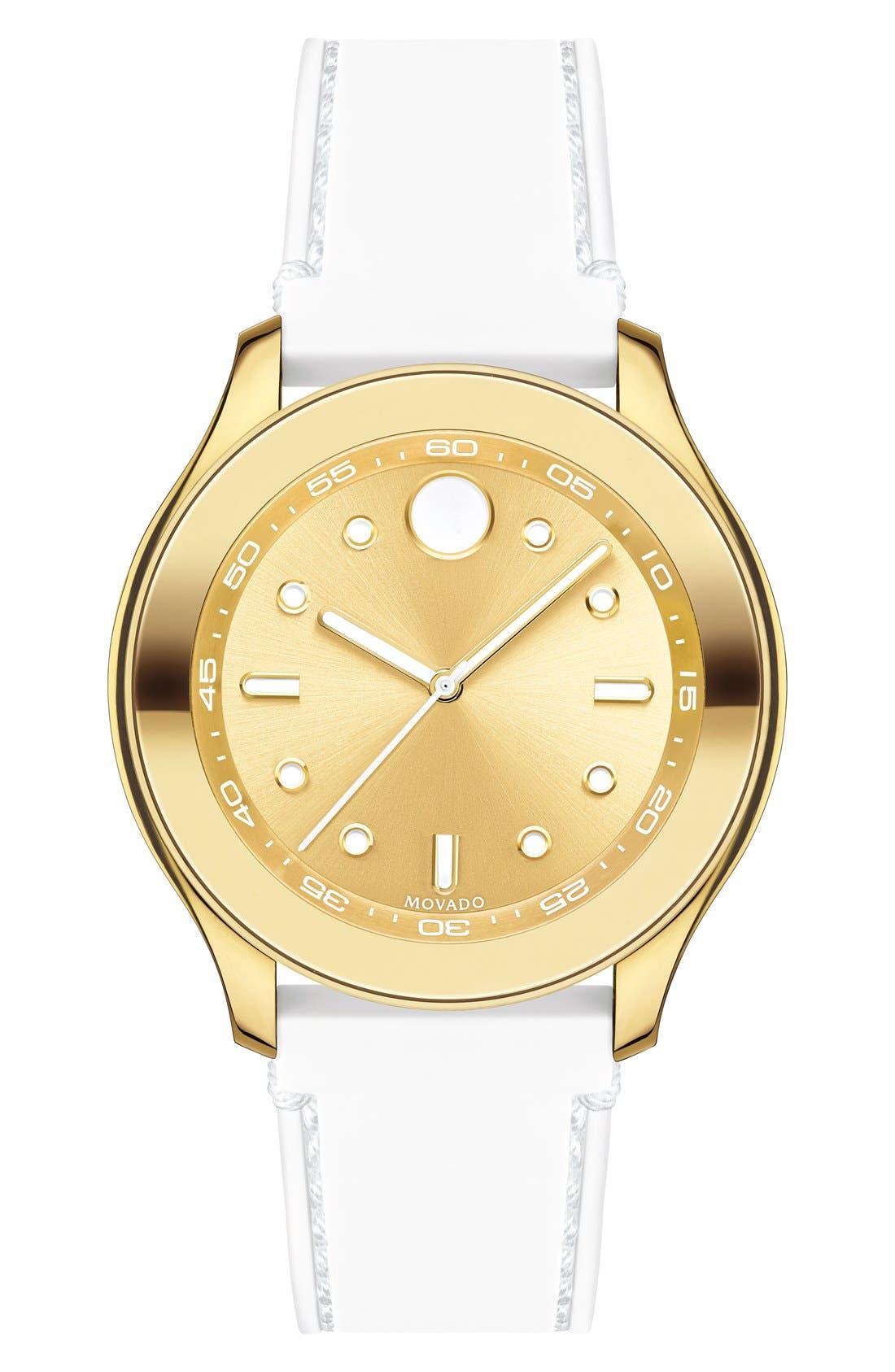 Main Image - Movado 'Bold' Silicone Strap Watch, 38mm