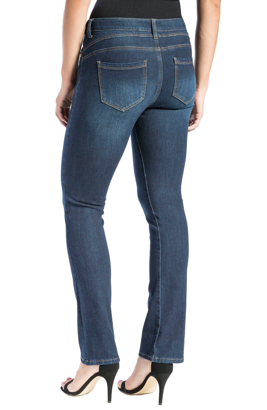 Alternate Image 3  - Liverpool Jeans Company 'Remy - Hugger' Straight Leg Jeans (Corvus)