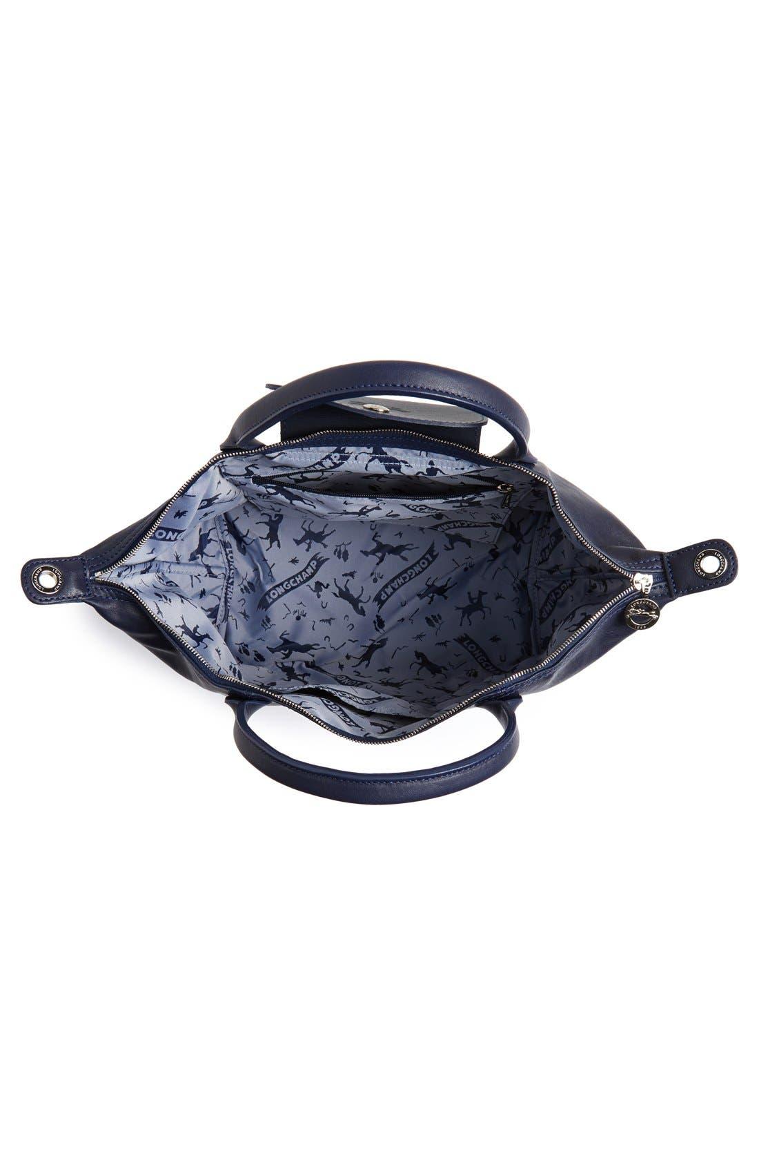 Alternate Image 4  - Longchamp 'Le Pliage Cuir' Leather Handbag