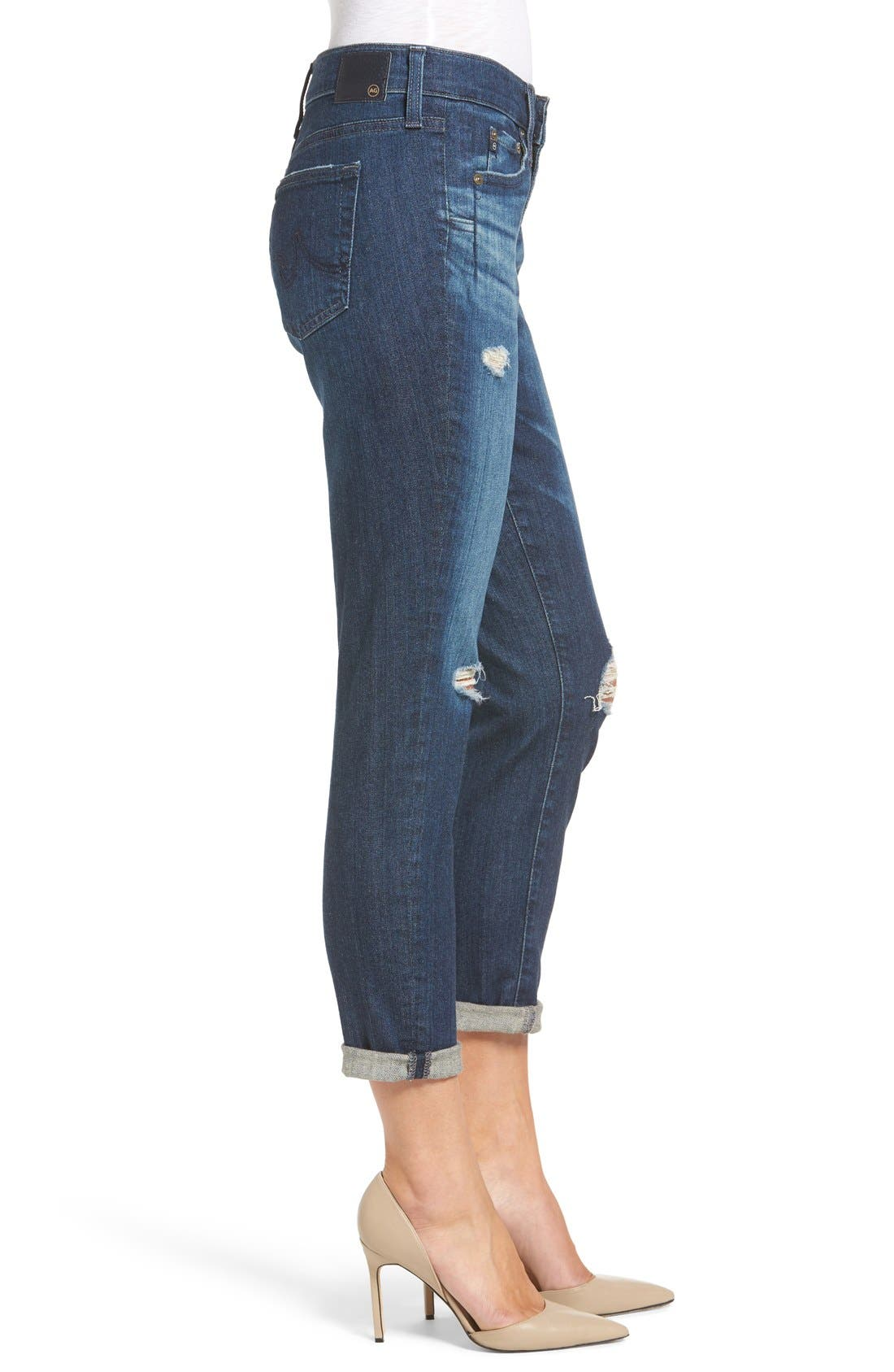 Alternate Image 3  - AG 'The Beau' High Rise Slouchy Skinny Jeans (Winnow)