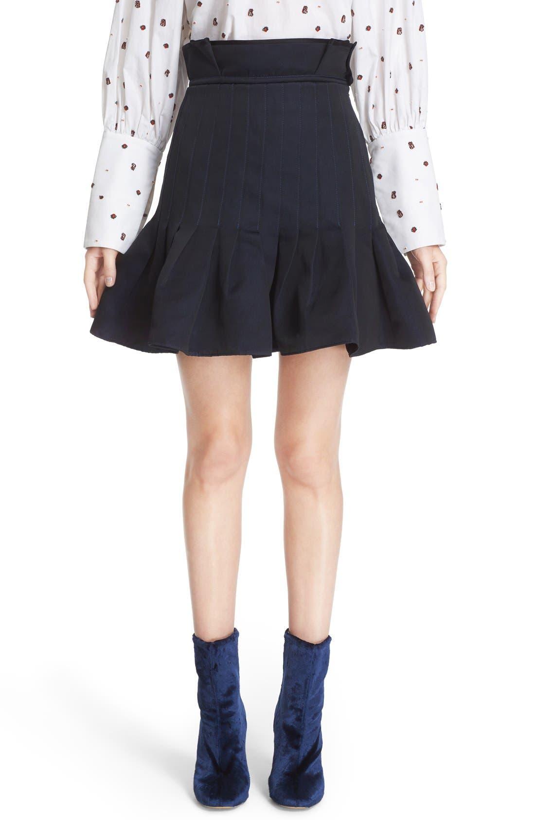 Main Image - ELLERY 'Kyoto' Pleated Miniskirt