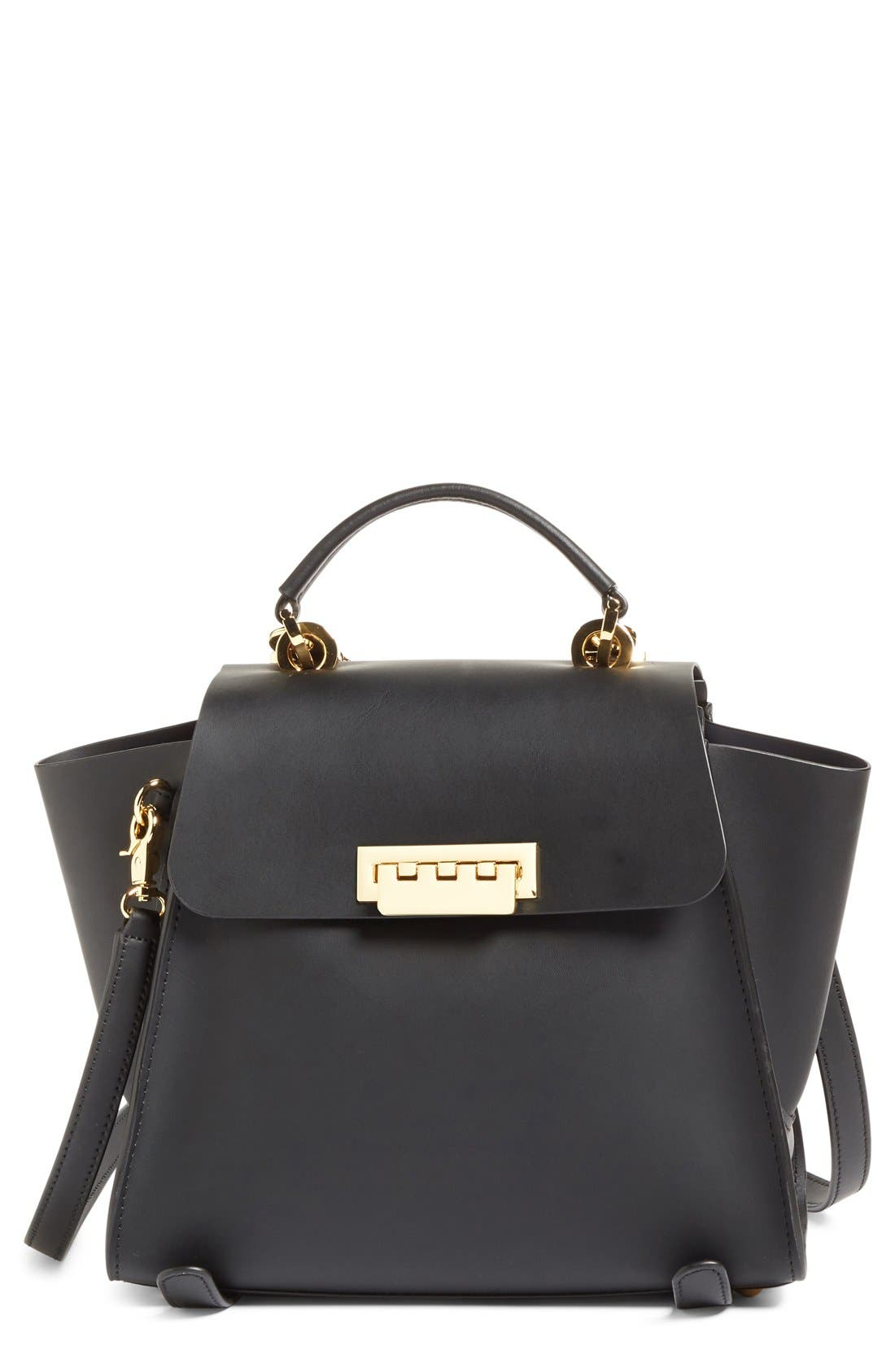 'Eartha Iconic' Leather Backpack,                         Main,                         color, Black