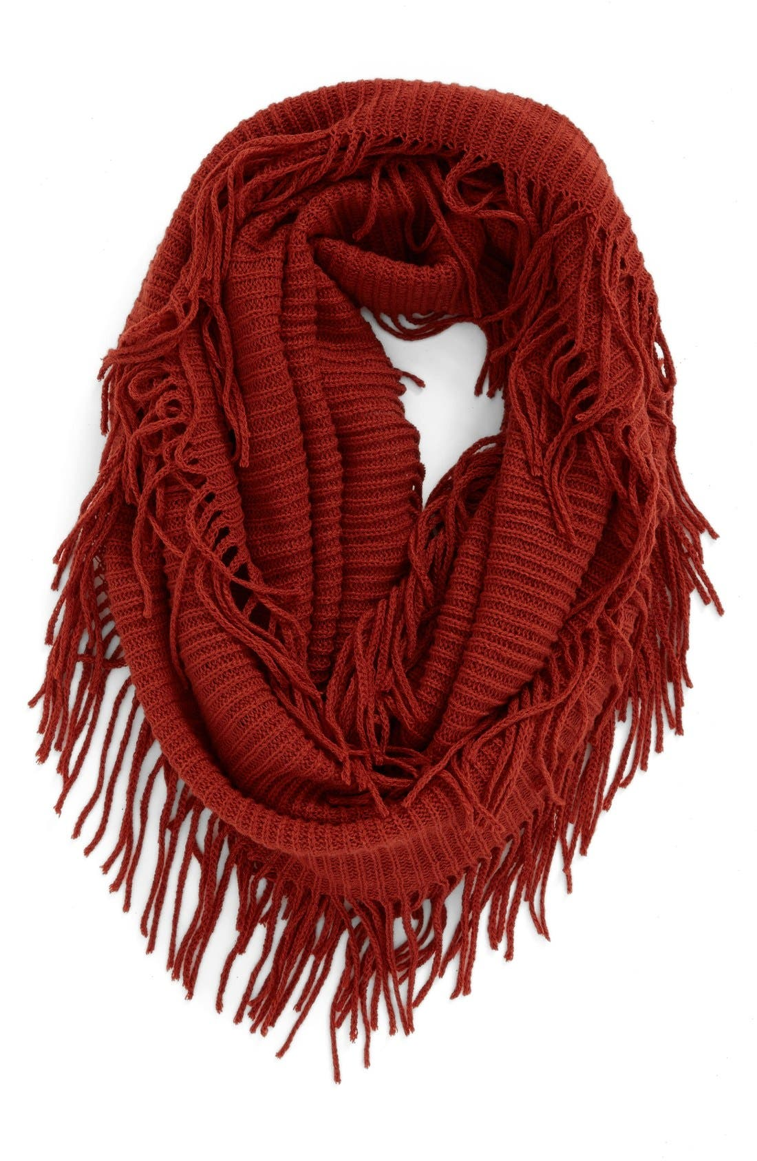 Alternate Image 1 Selected - BP. Rib Knit Fringe Infinity Scarf