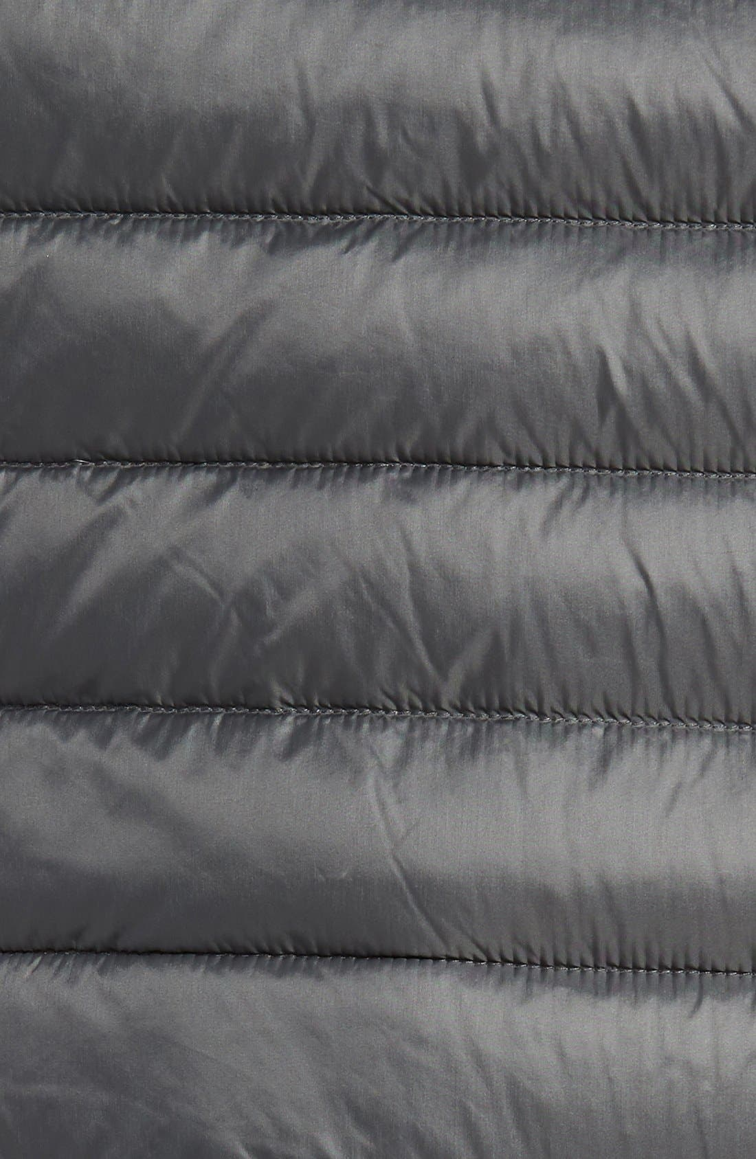 Packable Down Vest,                             Alternate thumbnail 5, color,                             Slate Grey