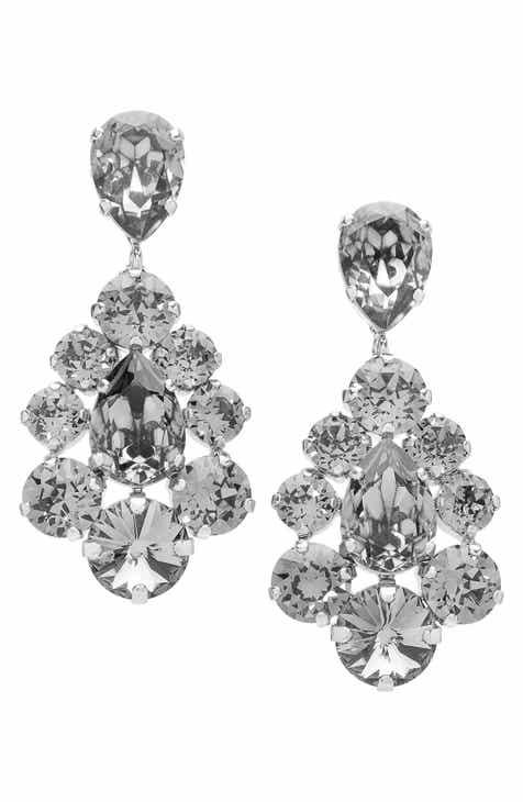 Womens black chandelier earrings nordstrom l erickson flora chandelier earrings aloadofball Choice Image
