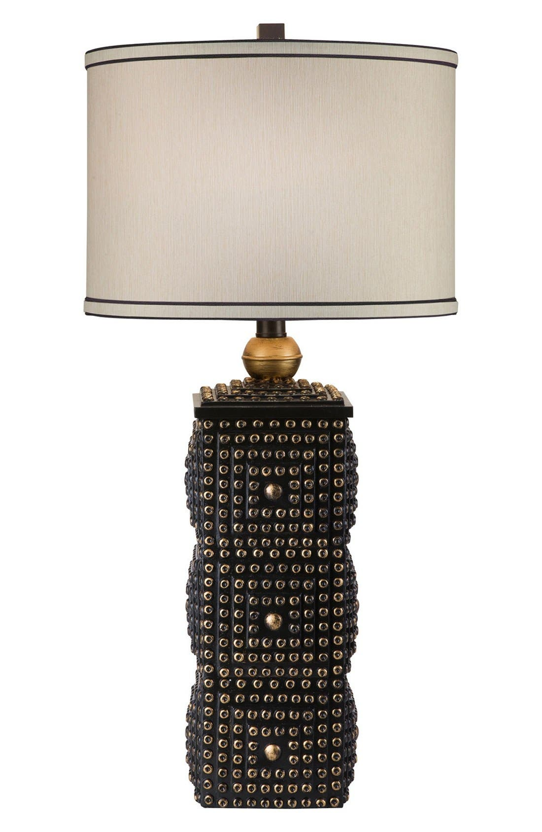 JAlexander Square Stacked Table Lamp,                             Main thumbnail 1, color,                             Black