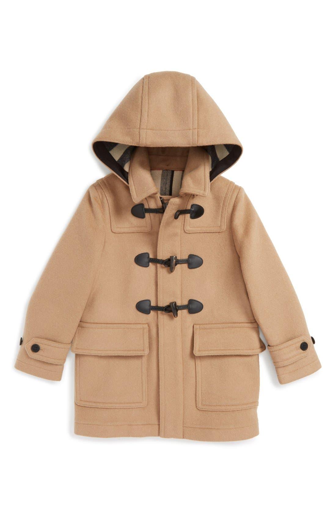 Main Image - Burberry 'Burwood' Wool Toggle Coat (Little Boys & Big Boys)