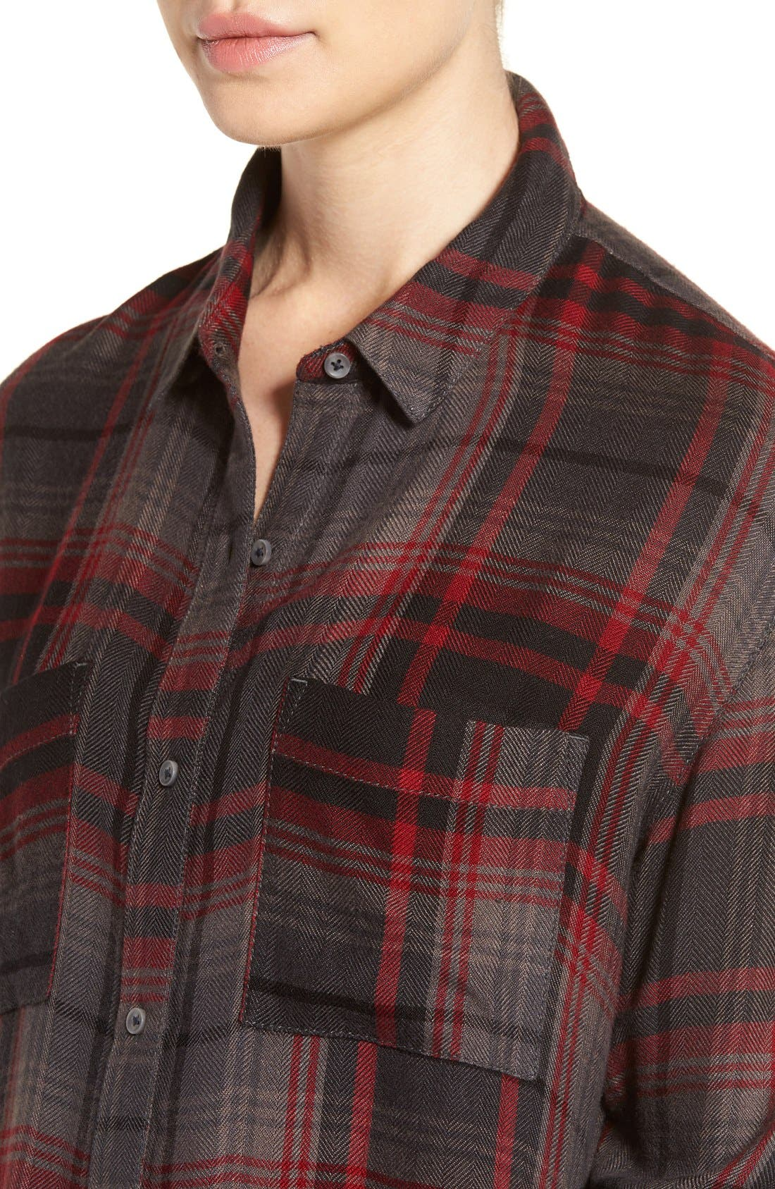 Alternate Image 5  - Treasure & Bond Drapey Plaid Shirt