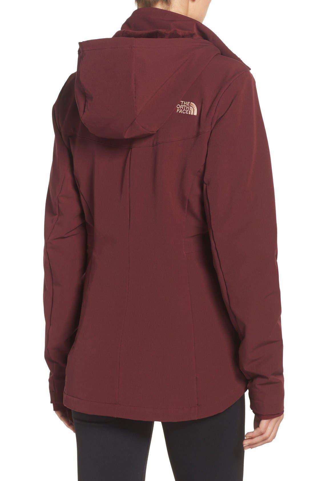 'Shelbe Raschel' Softshell Jacket,                             Alternate thumbnail 2, color,                             Deep Garnet Red