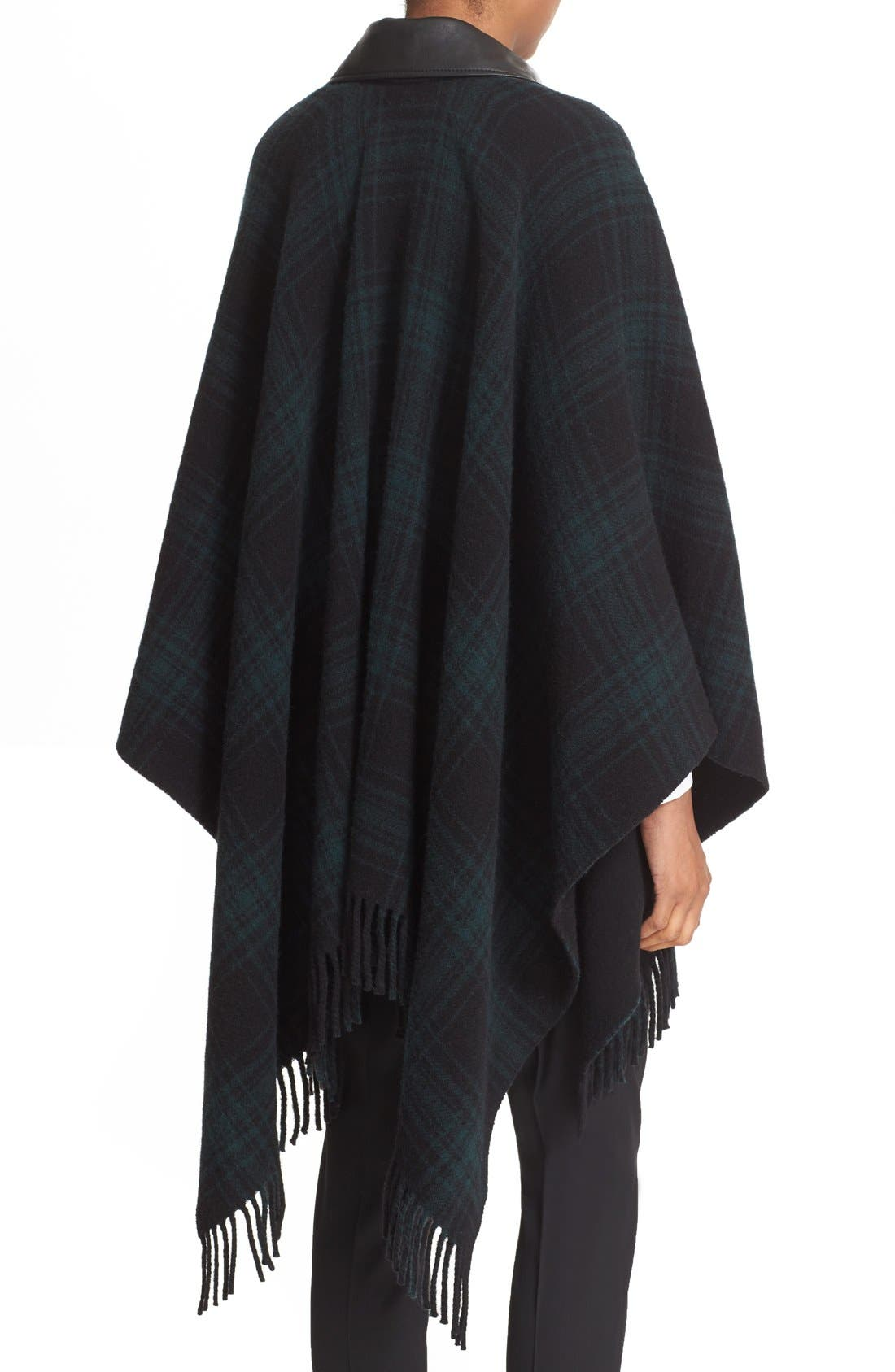 Alternate Image 2  - The Kooples Leather Collar Wool Blend Poncho